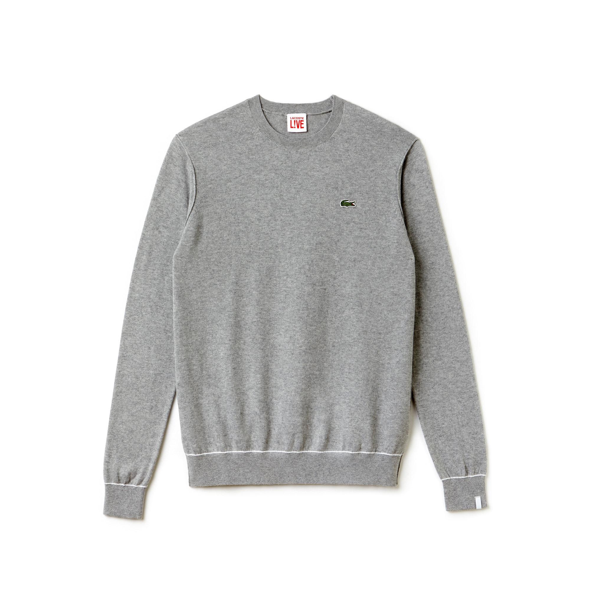 Pullover Lacoste LIVE in jersey di cotone e cachemire