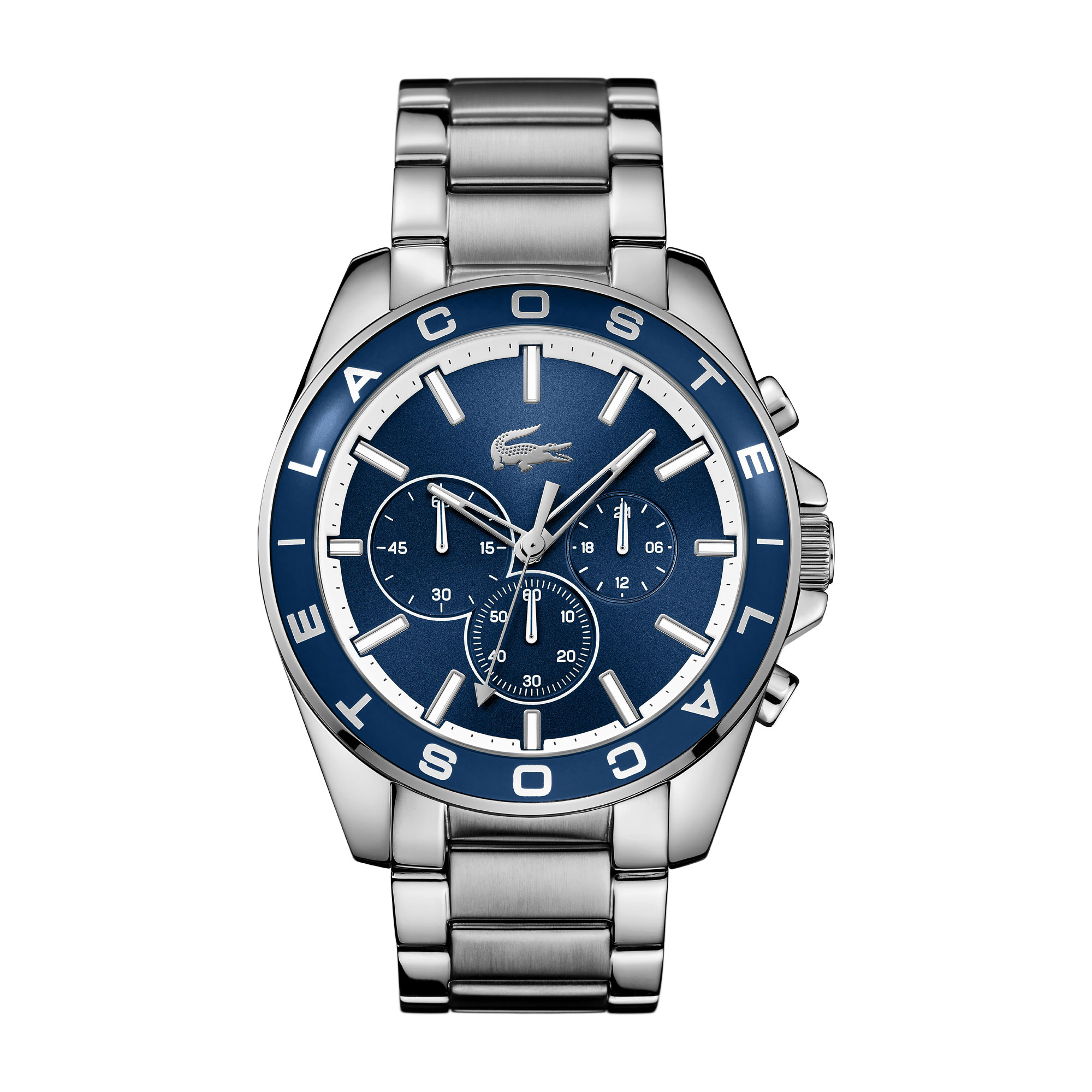 Westport blue chronograph watch with stainless steel bracelet