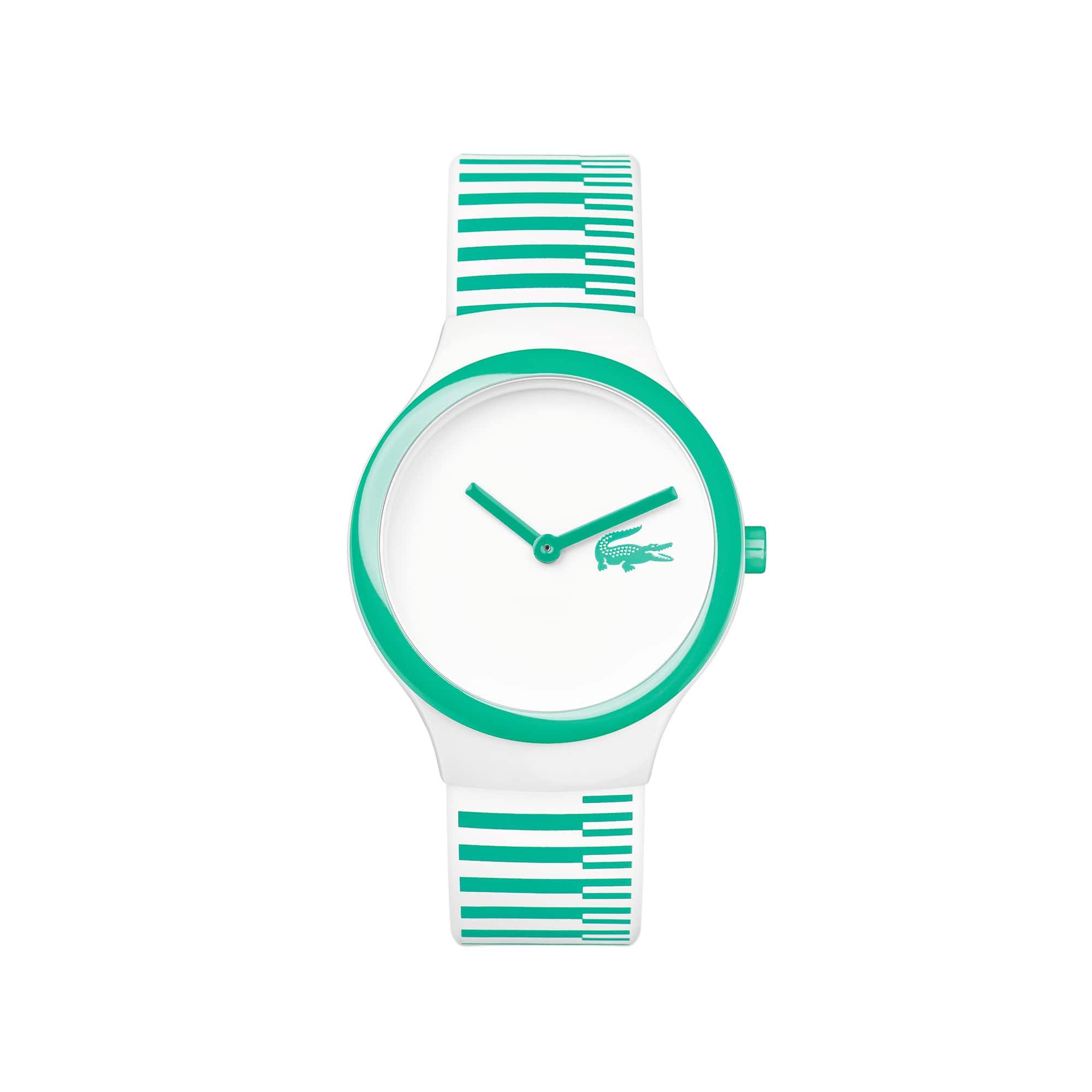 Orologio Goa NEW Bianco Righe verdi