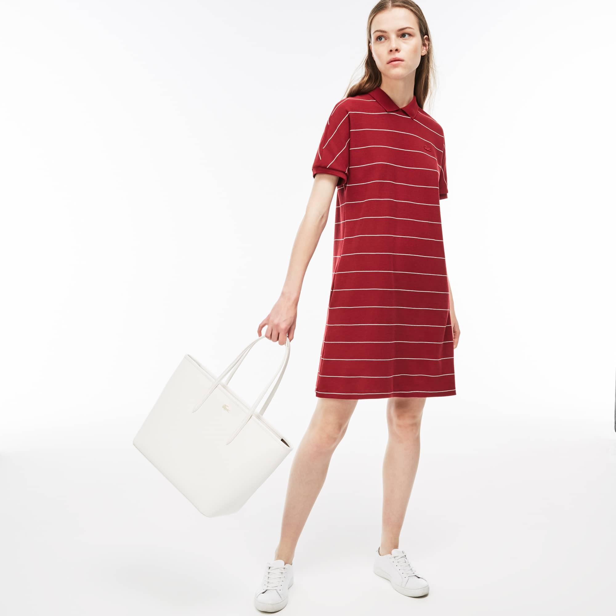 80702e0aa7 Shopping bag grande con zip Chantaco in pelle a piqué tinta unita ...