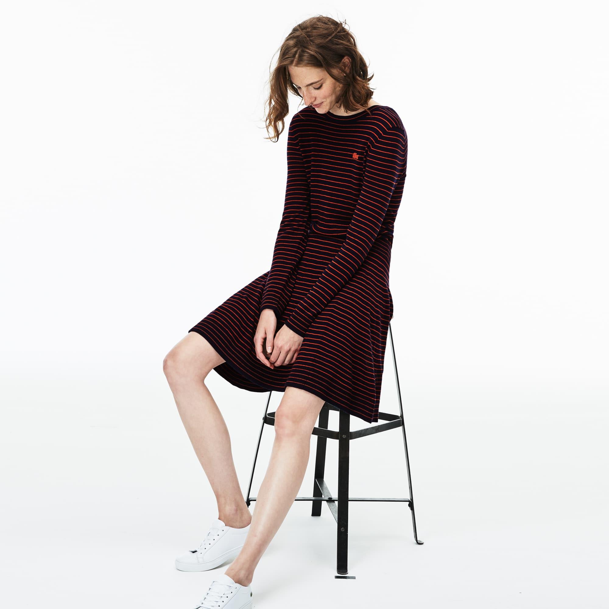 Abito in maglia sciancrato in jersey di lana