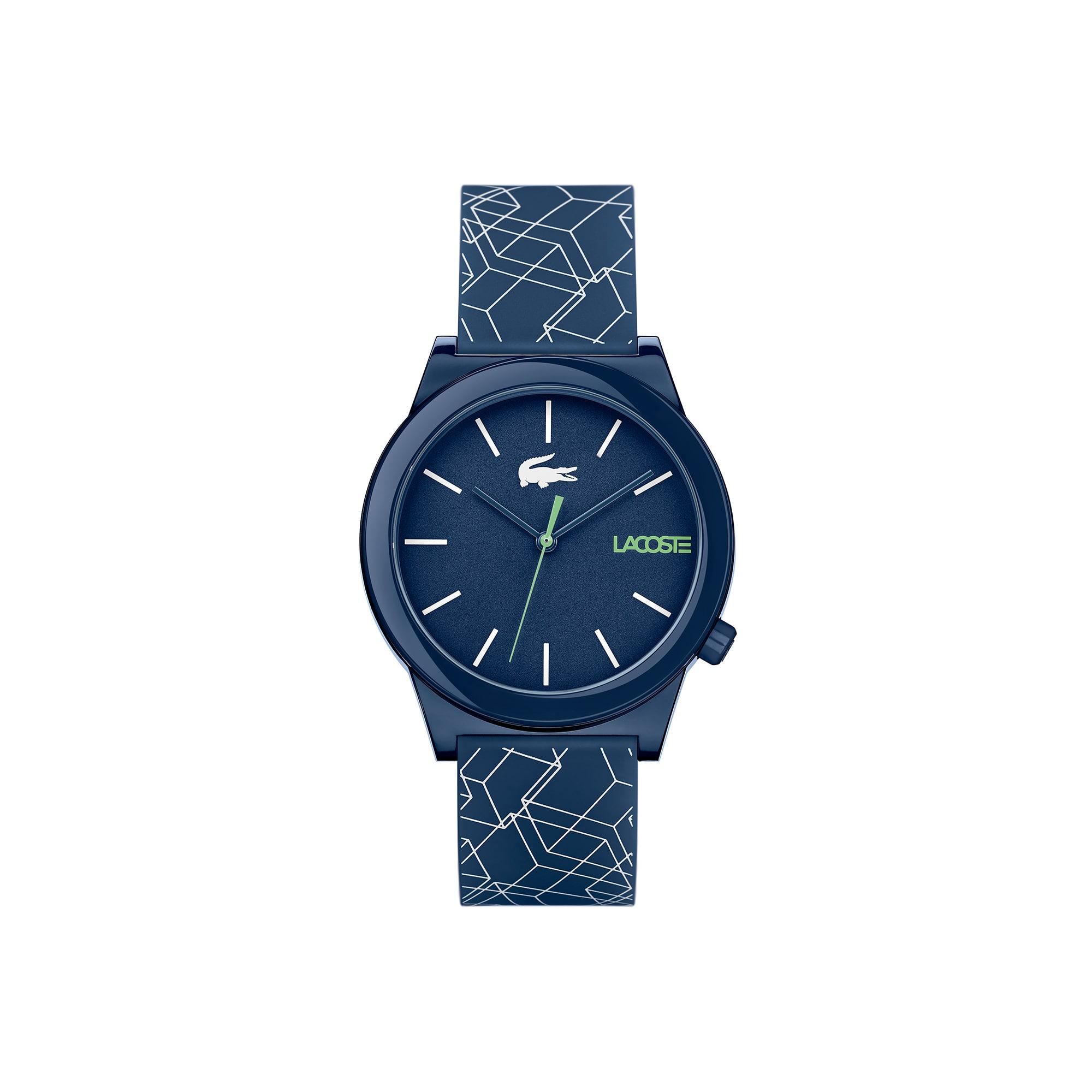 Orologio Motion da uomo con cinturino in silicone blu