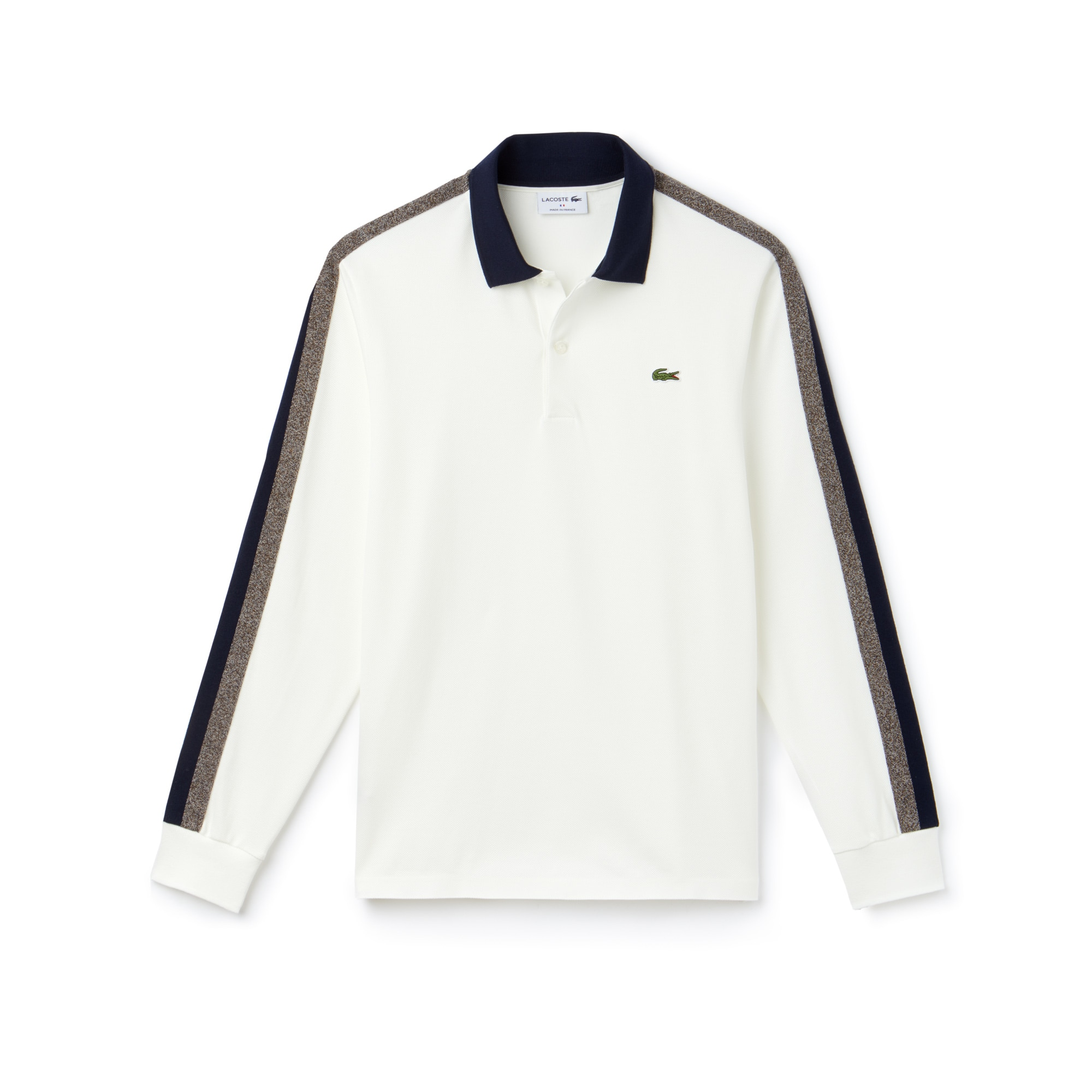Polo regular fit a maniche lunghe Lacoste Made in France in piqué