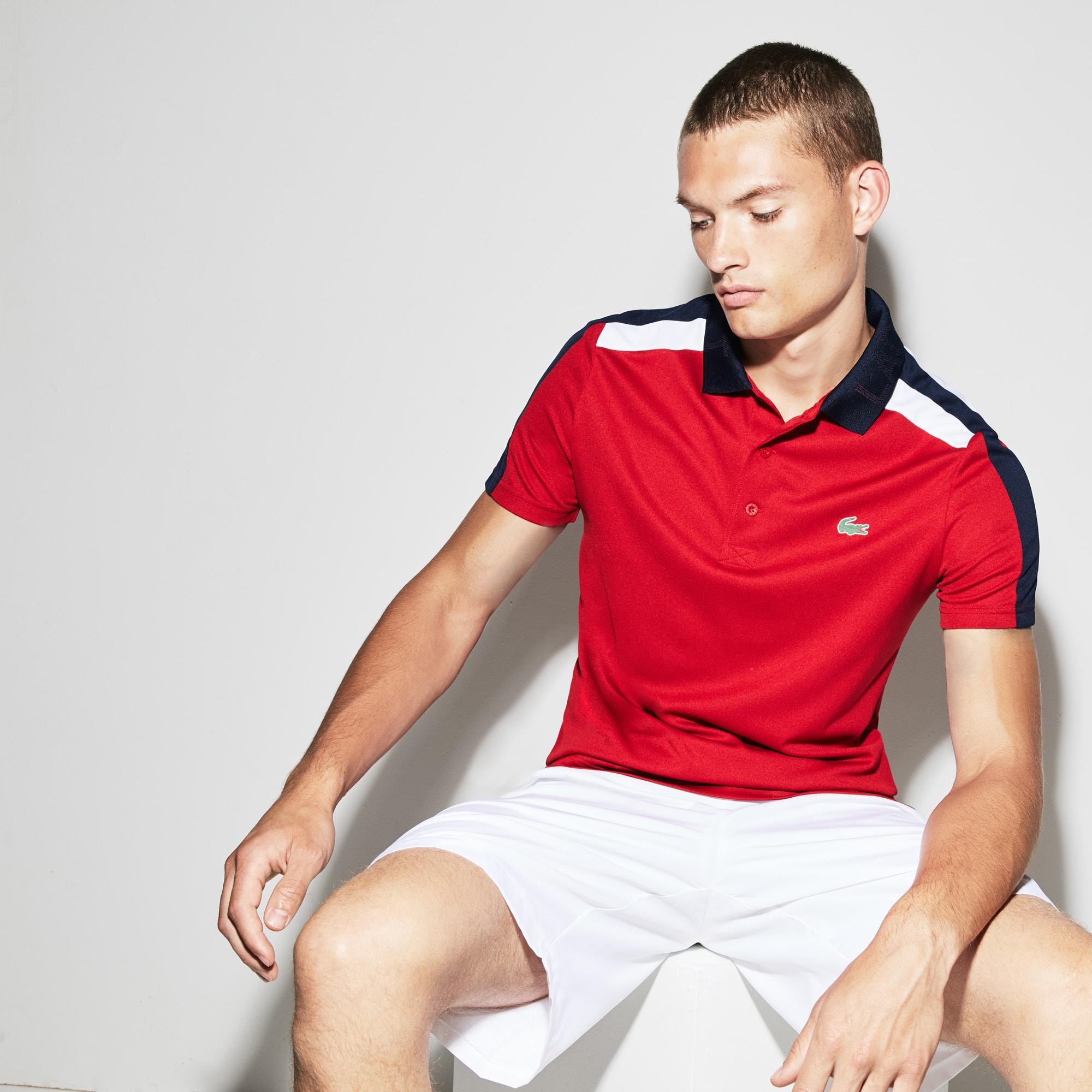Polo Tennis Lacoste SPORT in piqué tecnico con fasce a contrasto
