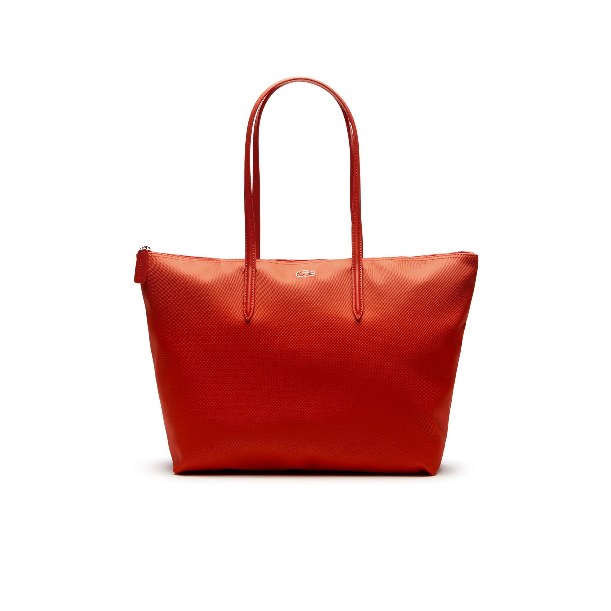 Shopping bag con zip L.12.12 Concept tinta unita