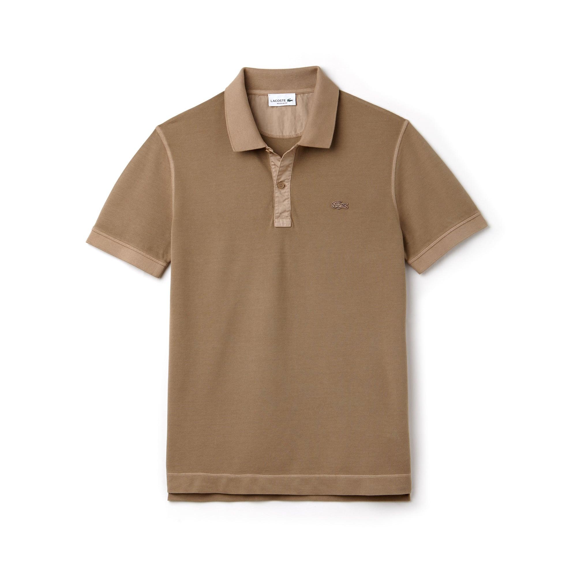 Polo regular fit Lacoste in maglia quadra tinta unita