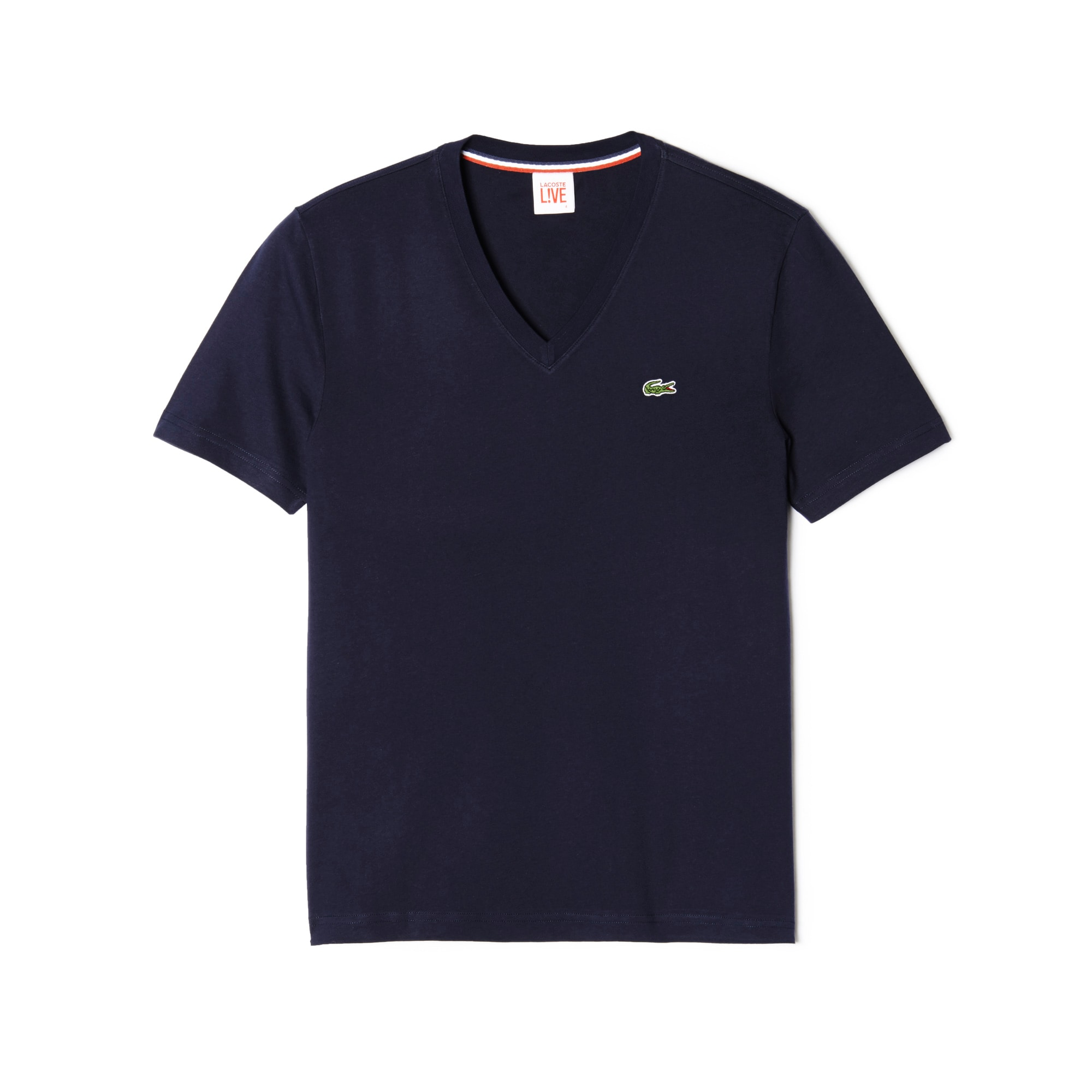 T-shirt Lacoste LIVE ultra-aderente con collo a V in jersey