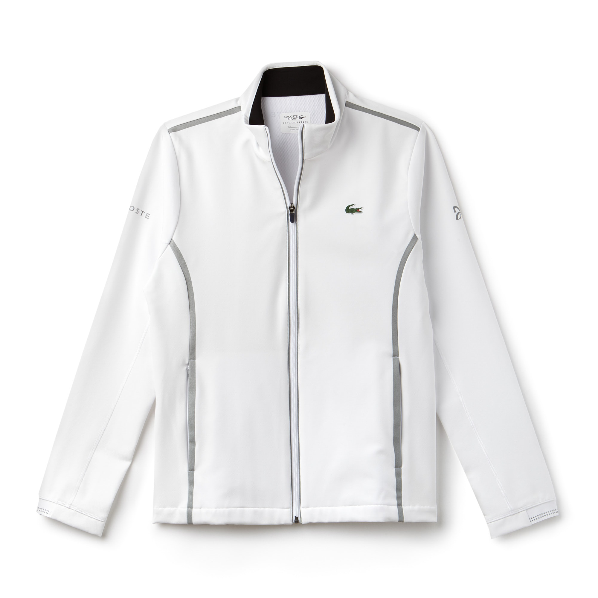 Felpa con zip Lacoste SPORT COLLEZIONE NOVAK DJOKOVIC SUPPORT WITH STYLE in midlayer tecnico