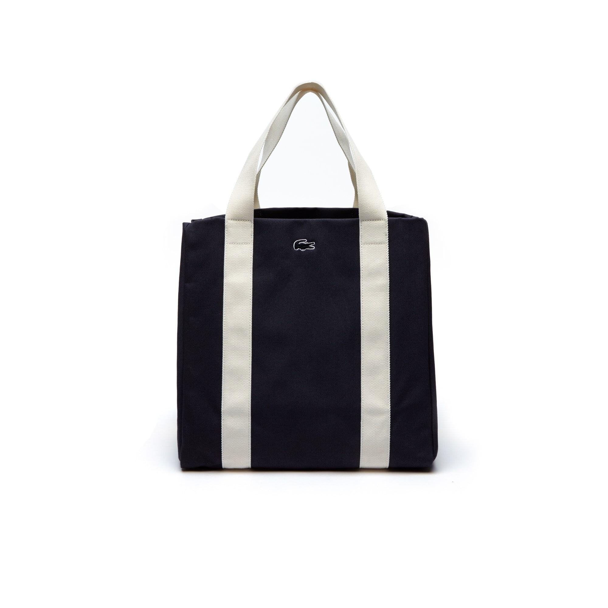 Shopping bag estensibile grande Summer in cotone color block