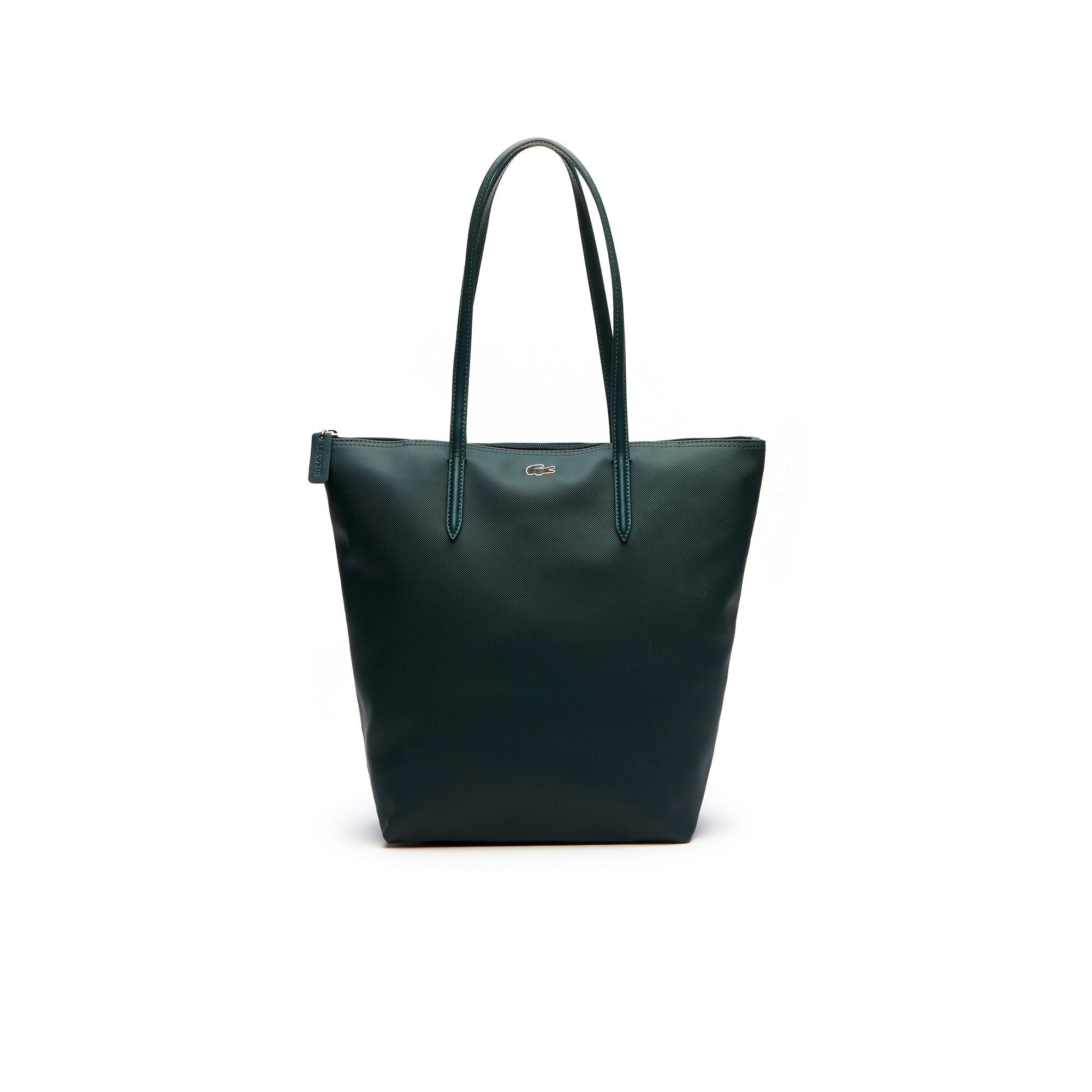 Shopping bag verticale con zip L.12.12 Concept tinta unita
