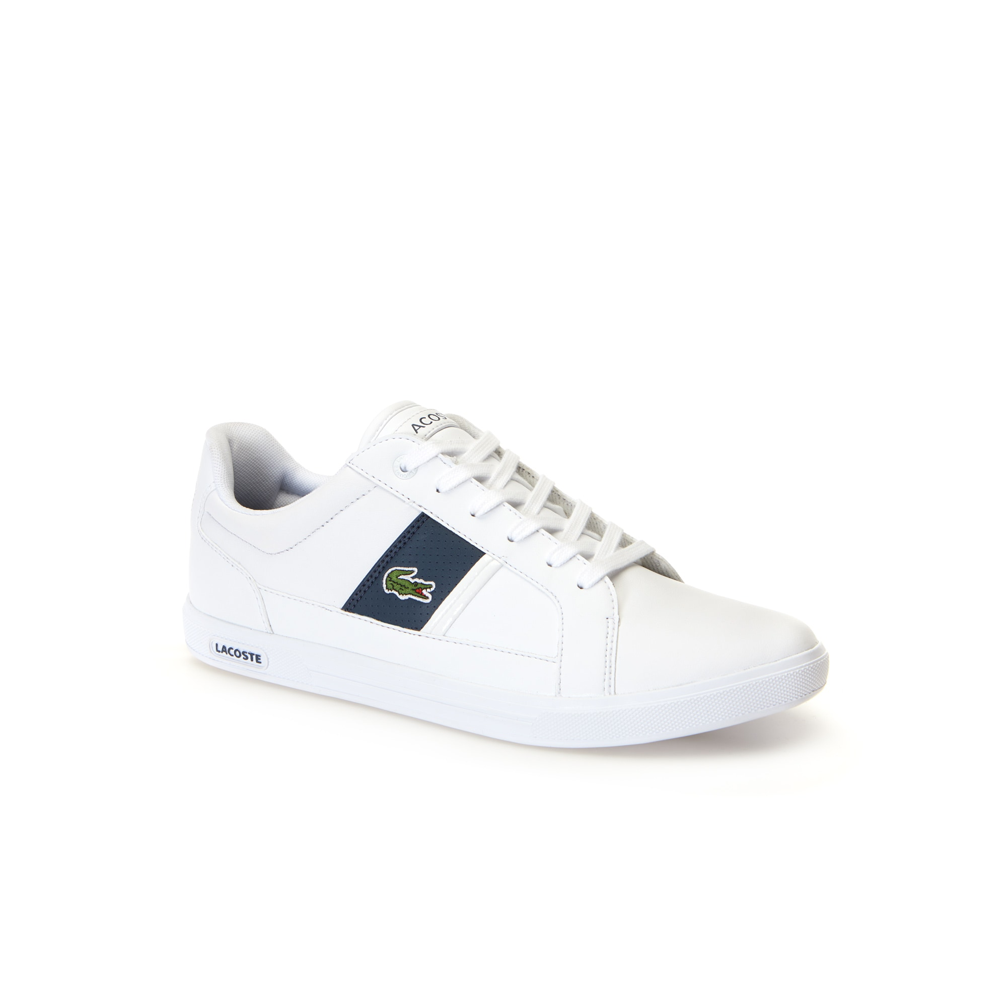 Men's Europa low-rise trainers in leather with contrast panels