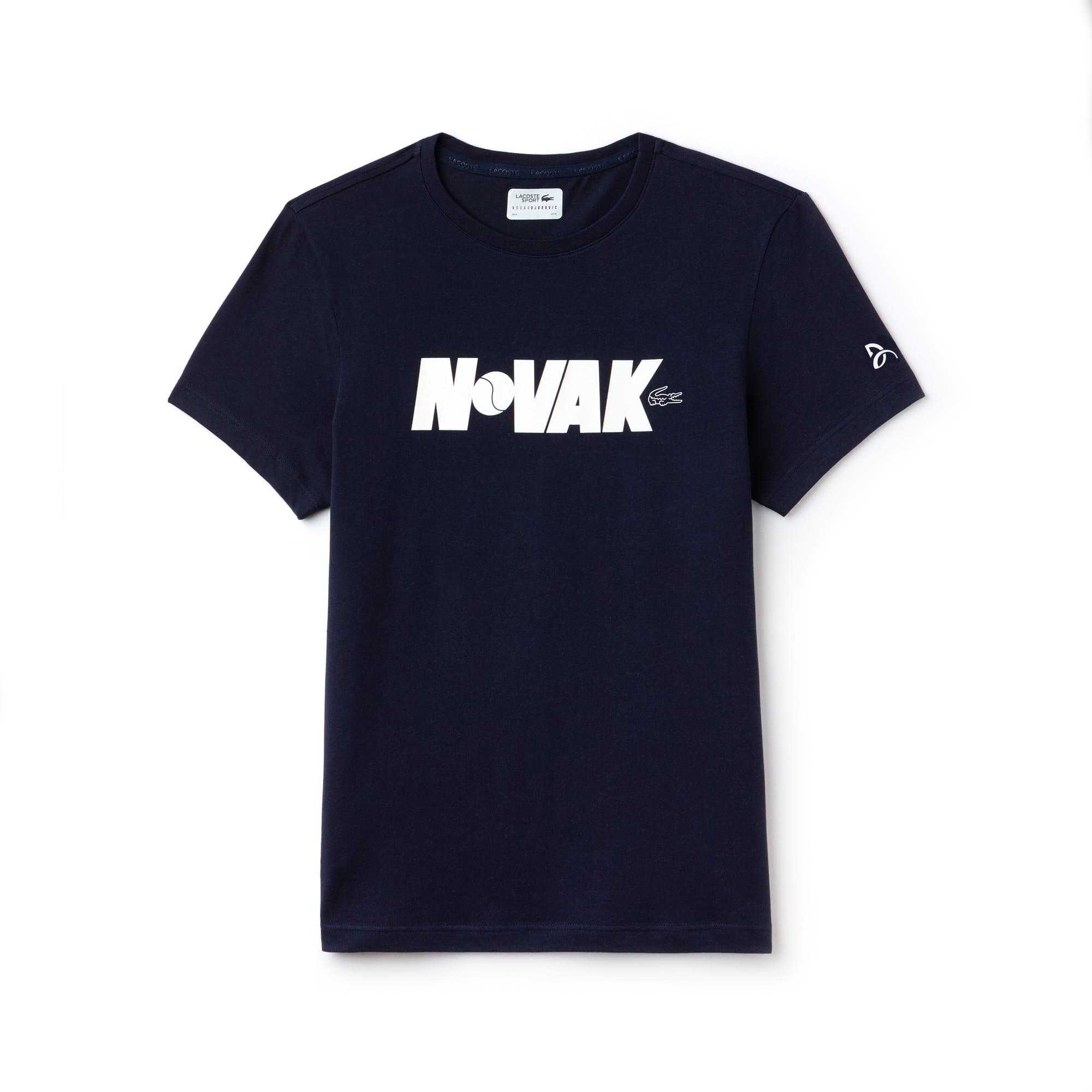 T-shirt girocollo Lacoste SPORT COLLEZIONE NOVAK DJOKOVIC SUPPORT WITH STYLE in jersey tecnico