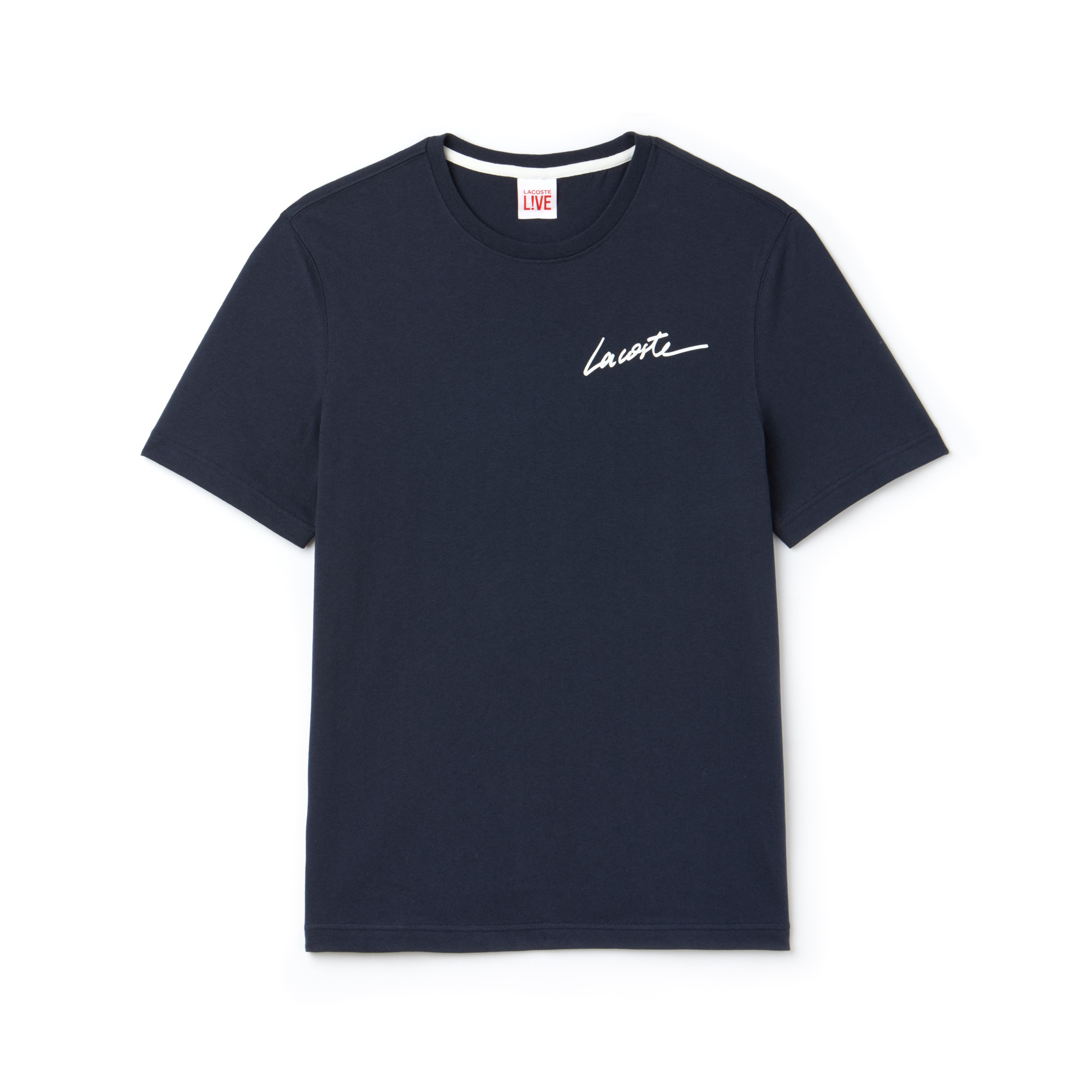 T-shirt a girocollo Lacoste LIVE in jersey con logo Lacoste
