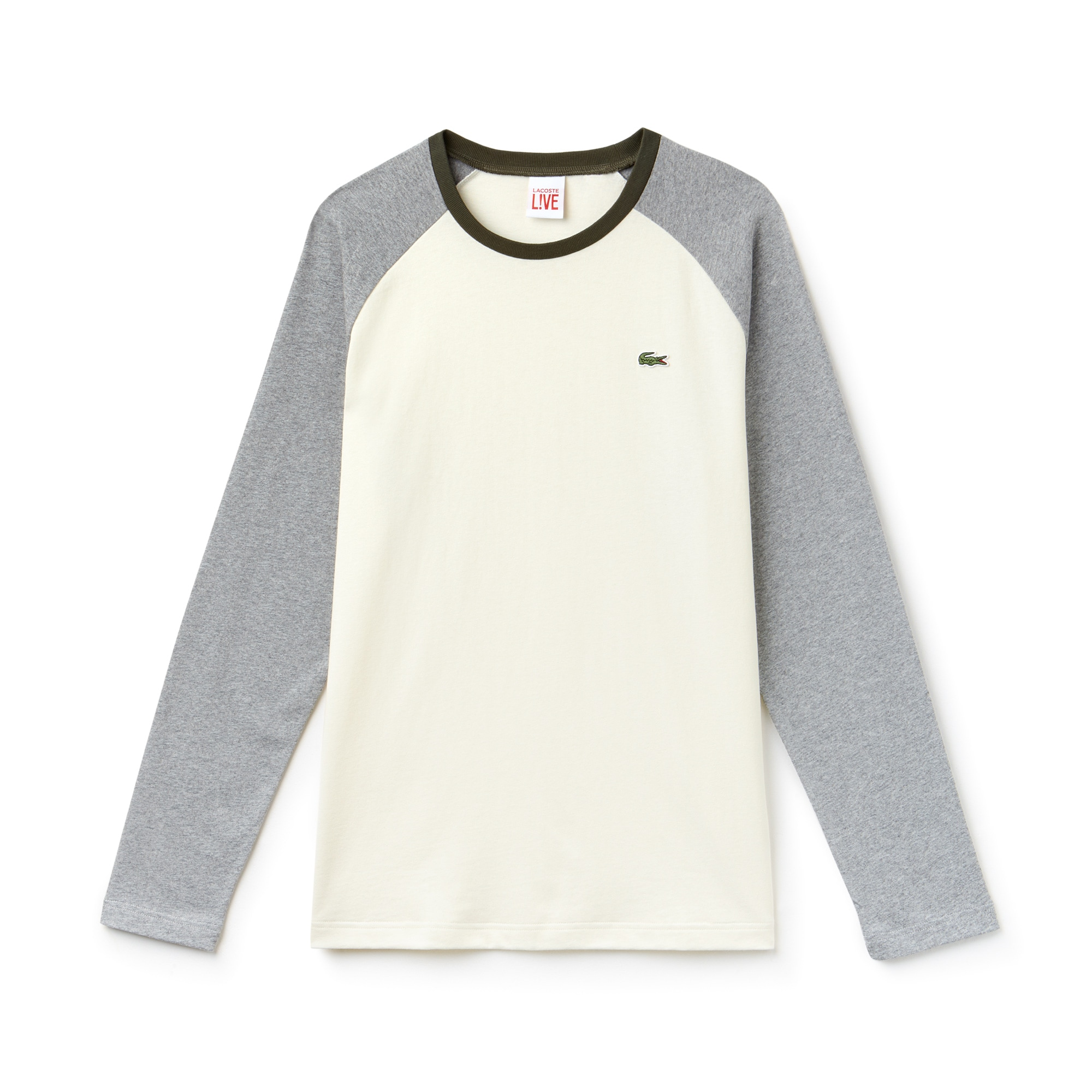 T-shirt a maniche lunghe Lacoste LIVE in jersey bicolore