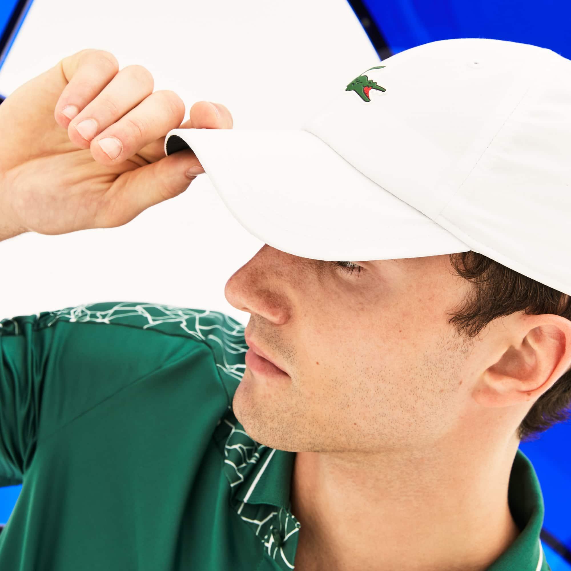 Berretto con visiera Lacoste SPORT Collezione Novak Djokovic - Off Court in microfibra