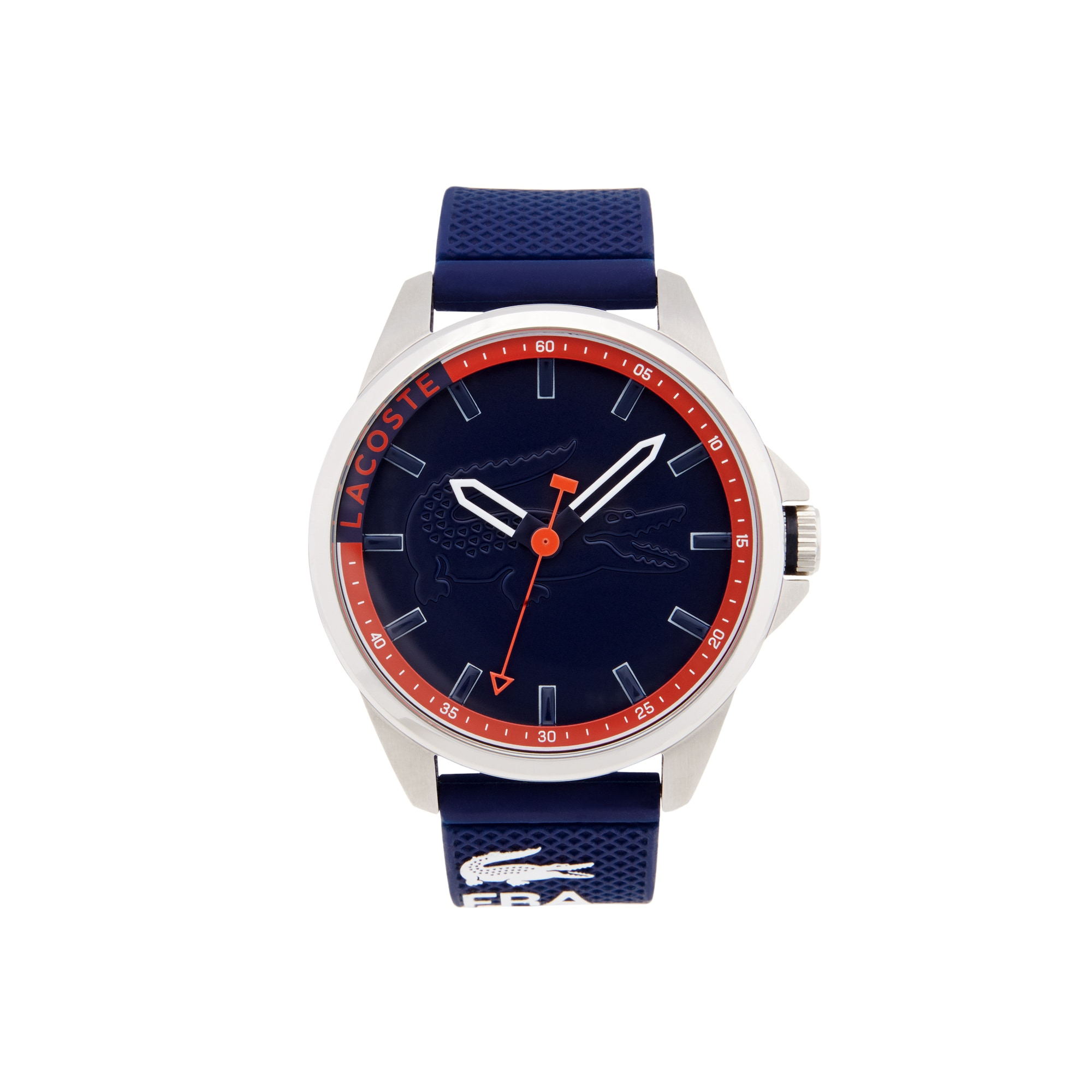 Capbreton watch with white silicone strap and white dial
