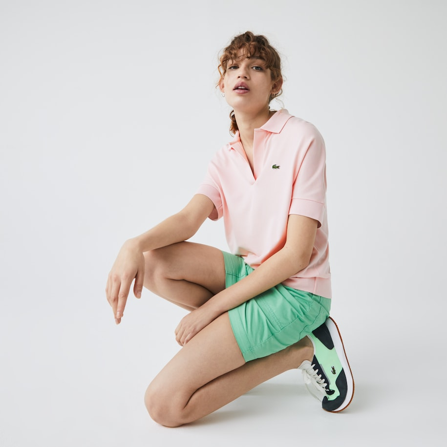 Polo da donna loose fit in piqué fluido Lacoste