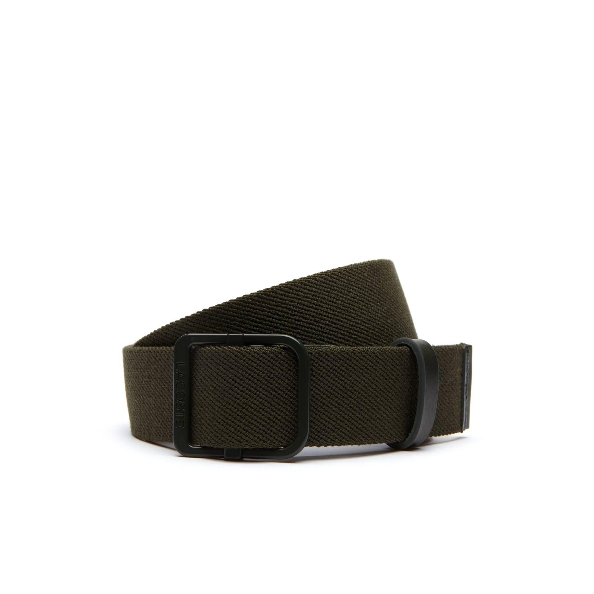 Cintura intrecciata estensibile con clip autobloccante Lacoste Motion da uomo