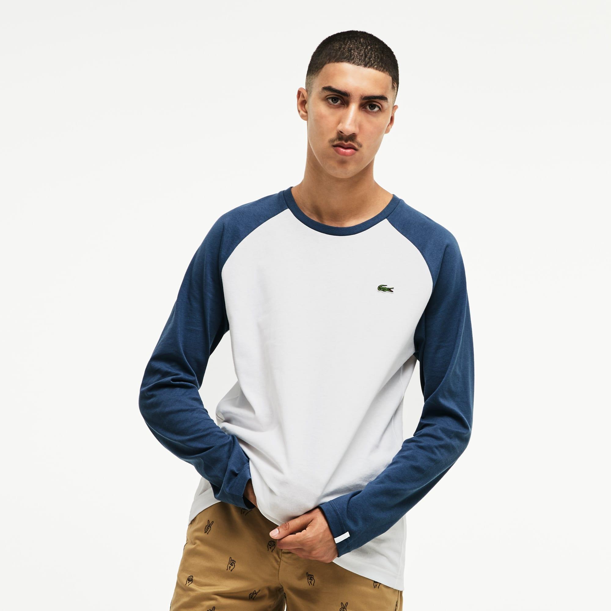 T-shirt a maniche lunghe Lacoste LIVE in jersey bicolore