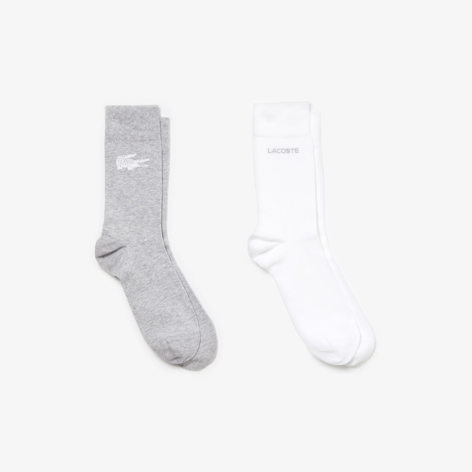 Confezione da due paia di calze coordinate in jersey stampato