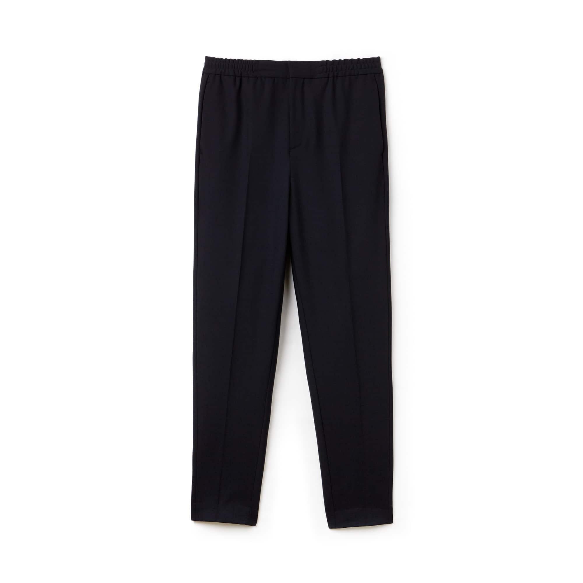 Pantaloni chino con pince Lacoste Motion in twill di lana stretch