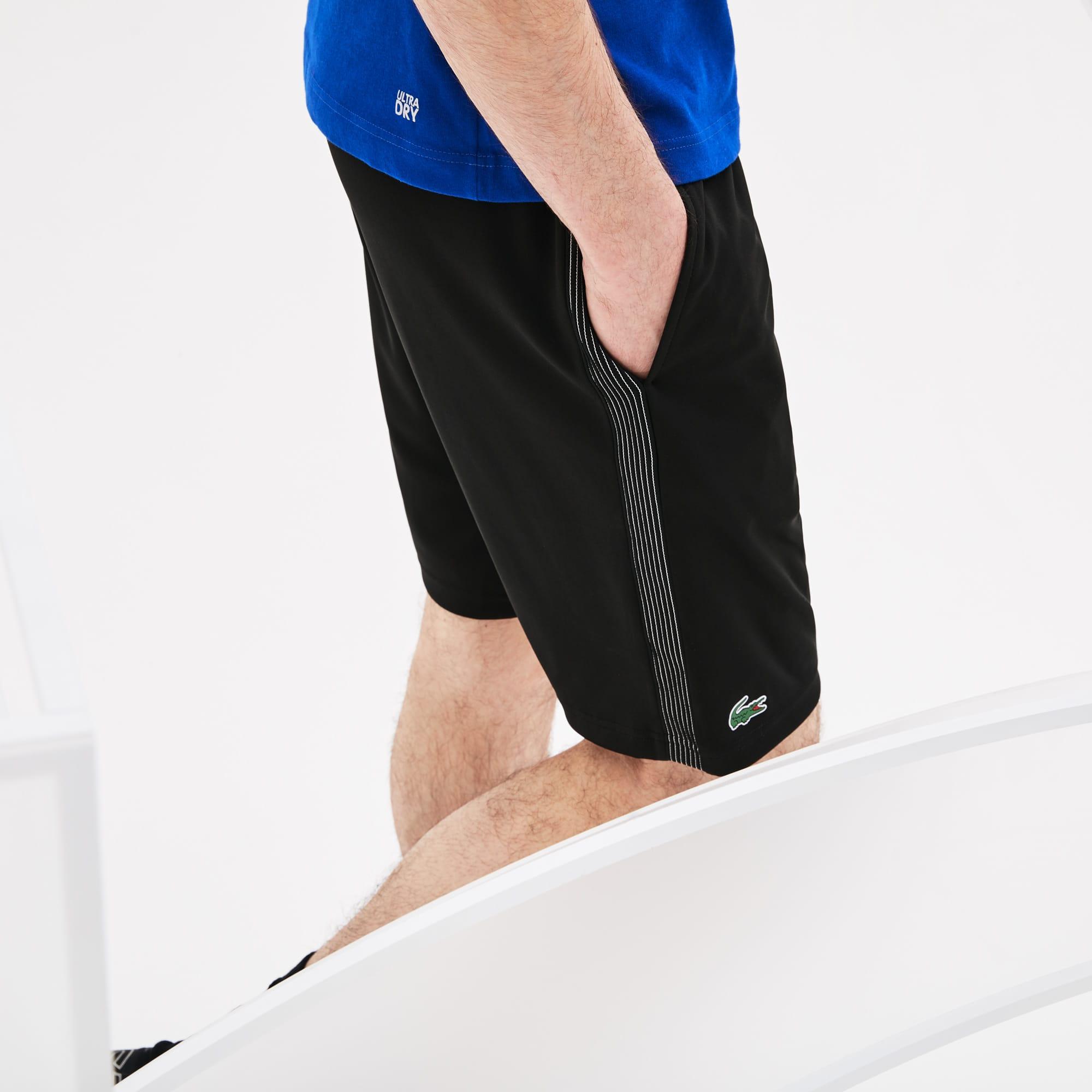 Pantaloncini Lacoste SPORT Collezione Novak Djokovic Support With Style - Off Court in piqué tecnico tinta unita
