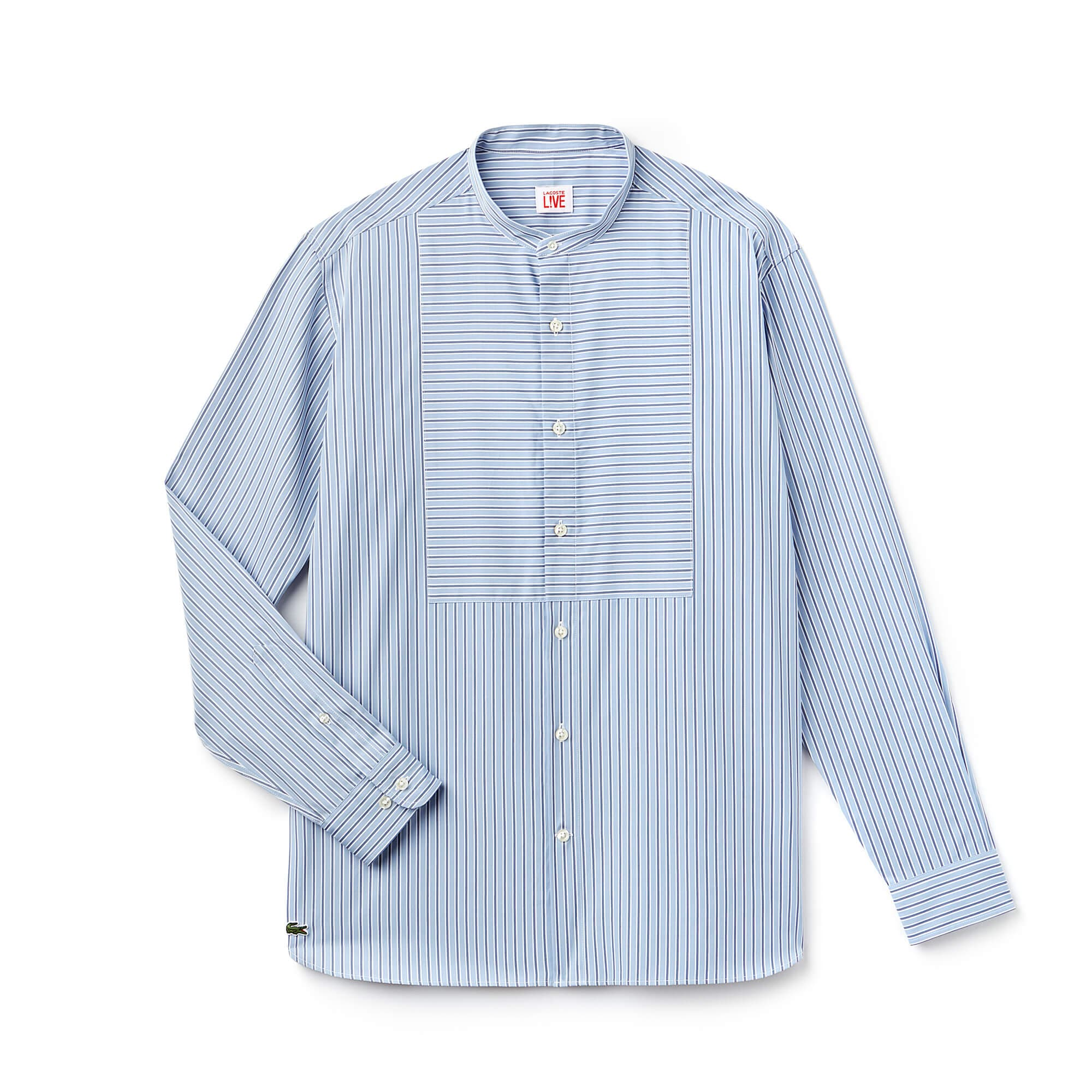 Camicia boxy fit Lacoste LIVE in popeline a righe
