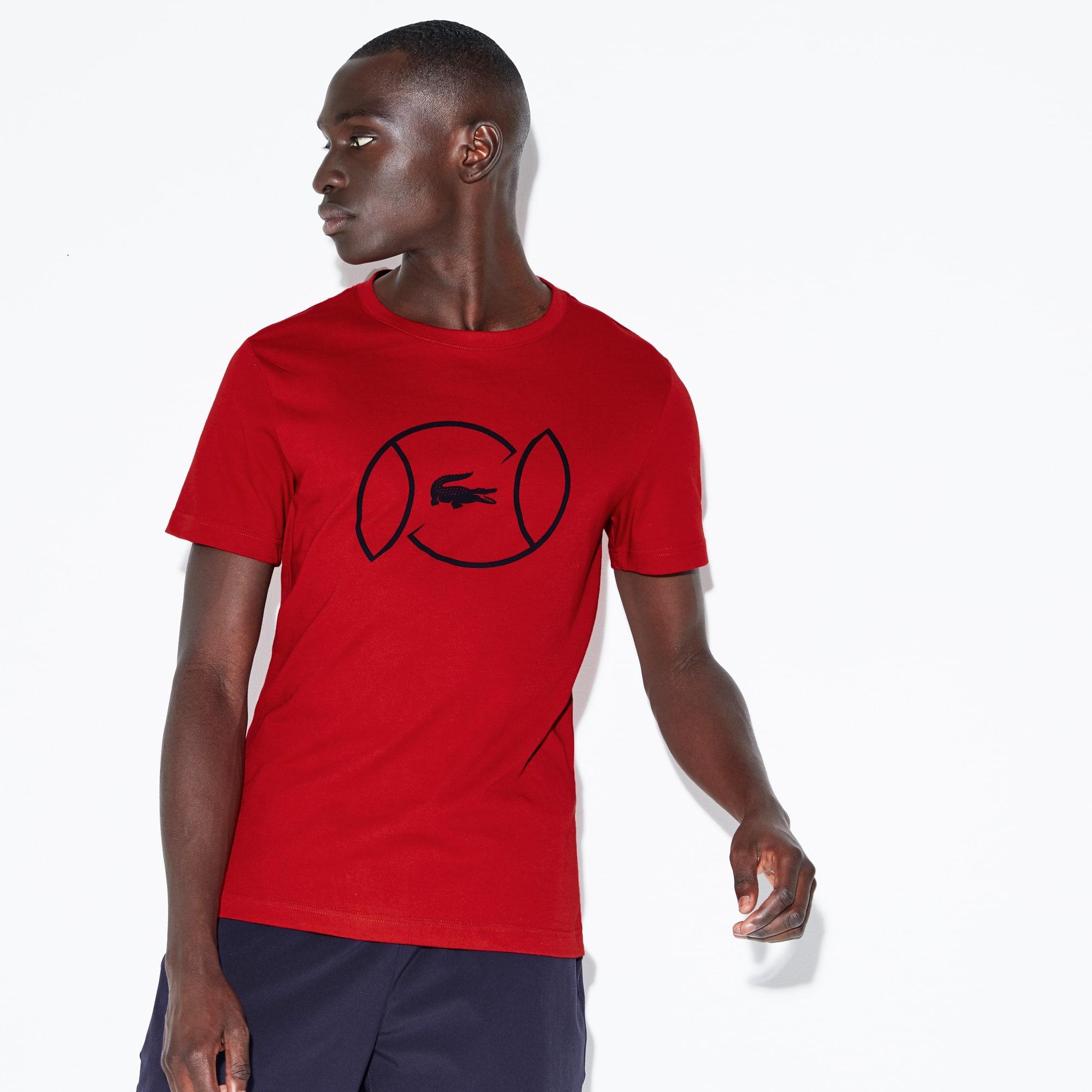 T-shirt a girocollo Tennis Lacoste SPORT in jersey tecnico con logo