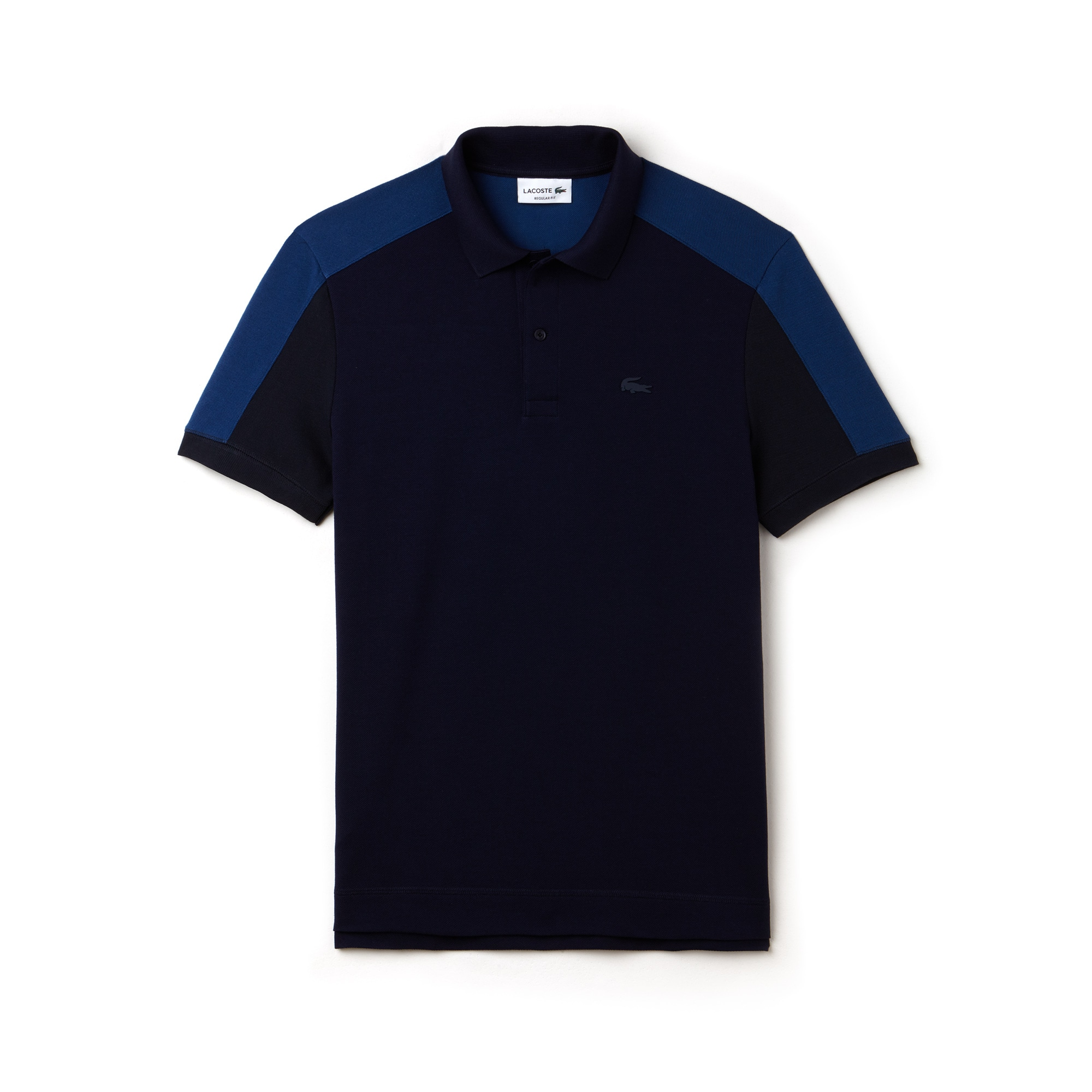 Polo regular fit Lacoste in petit piqué color block