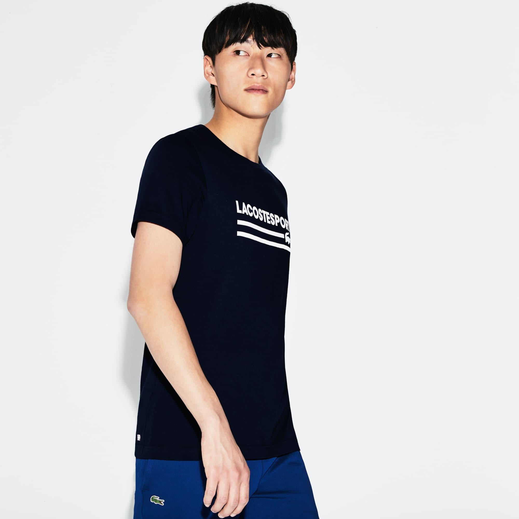 T-shirt Tennis Lacoste SPORT in jersey tecnico con marchio