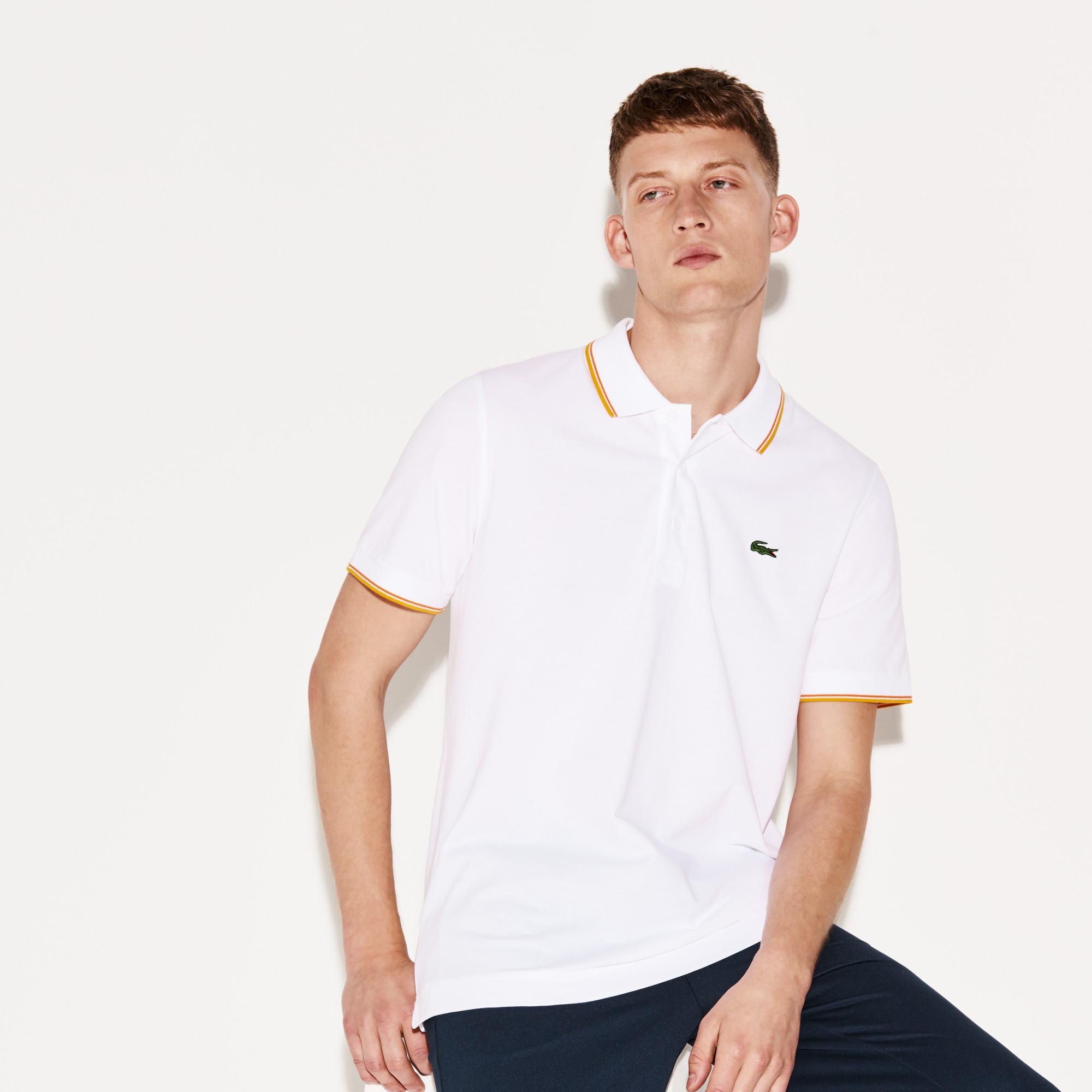 Polo Lacoste SPORT in maglia ultra-leggera con bordini