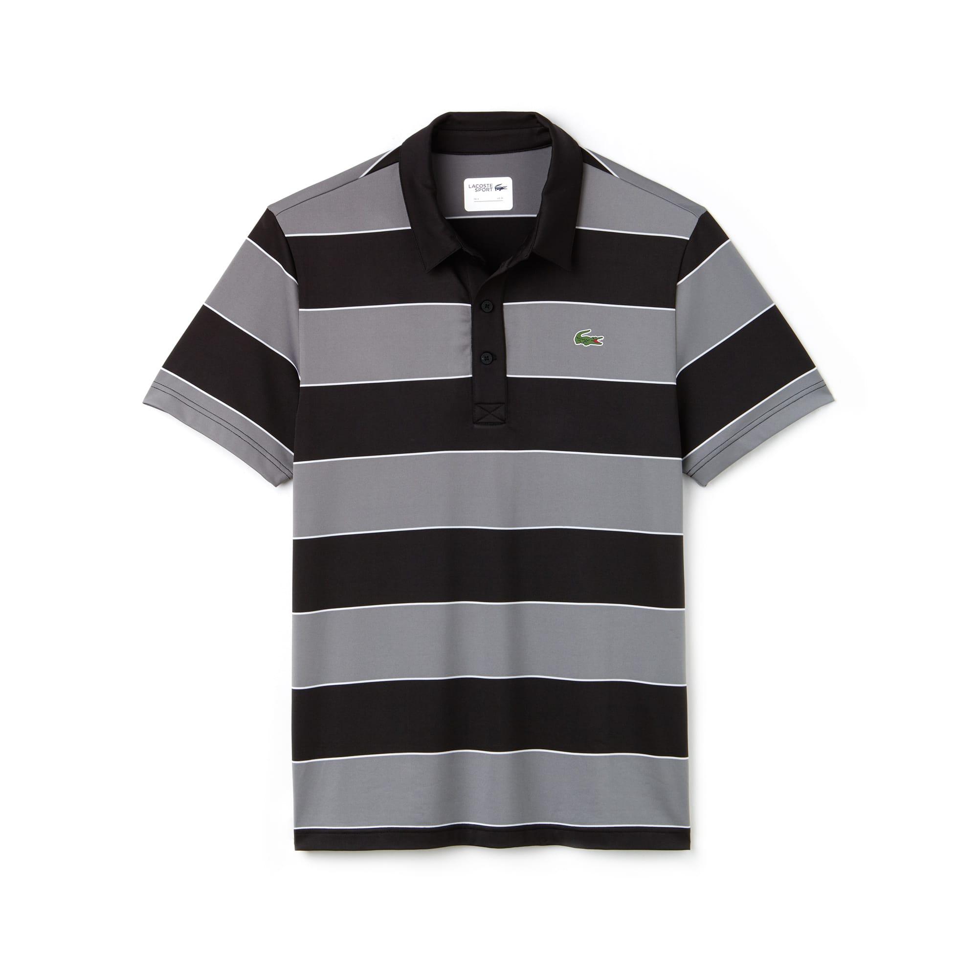 Polo Golf Lacoste SPORT in jersey tecnico stretch a righe