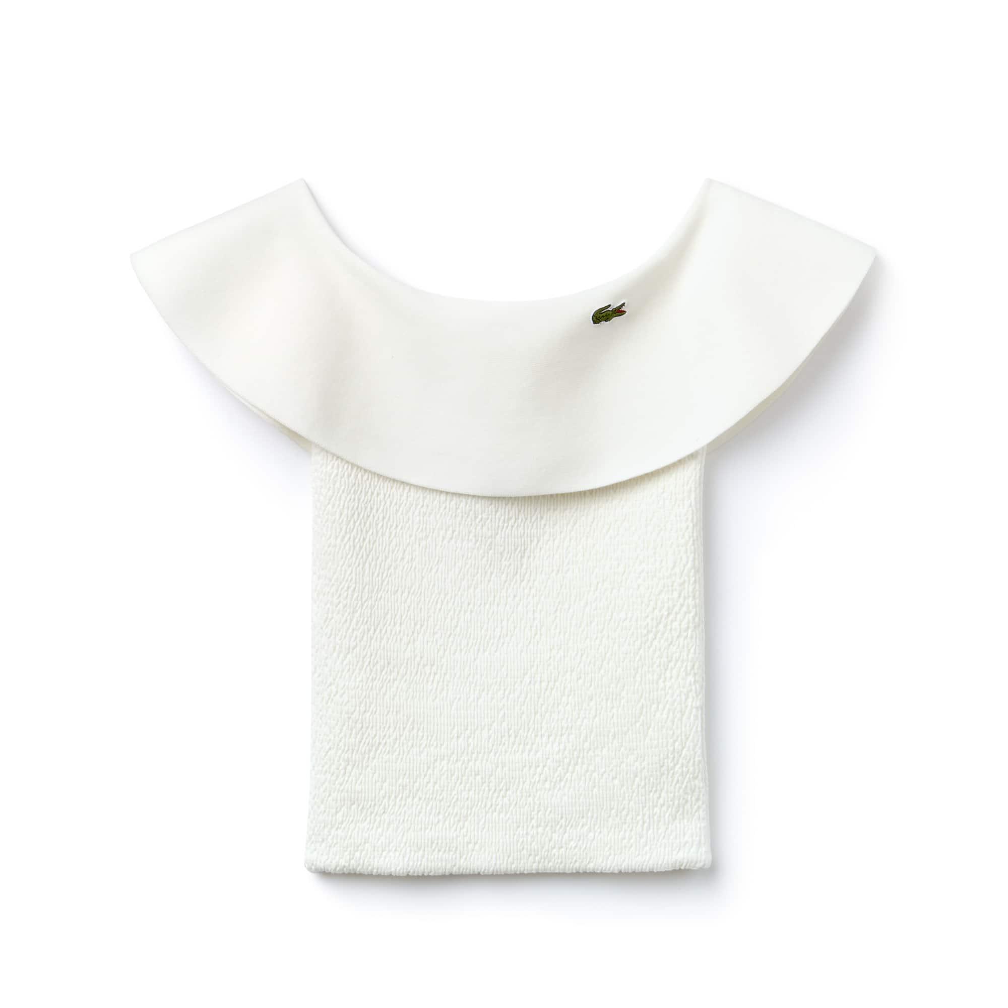 Bustier con volant in maglia di misto cotone Edizione Défilé