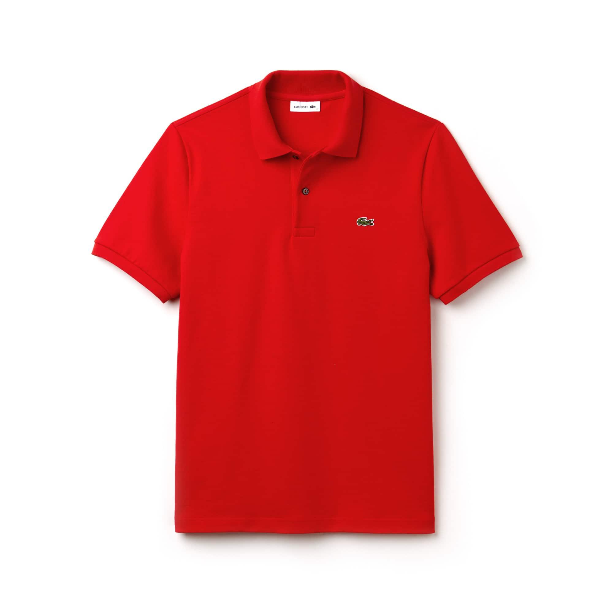 Polo Lacoste in jersey di cotone leggero tinta unita Edizione Défilé