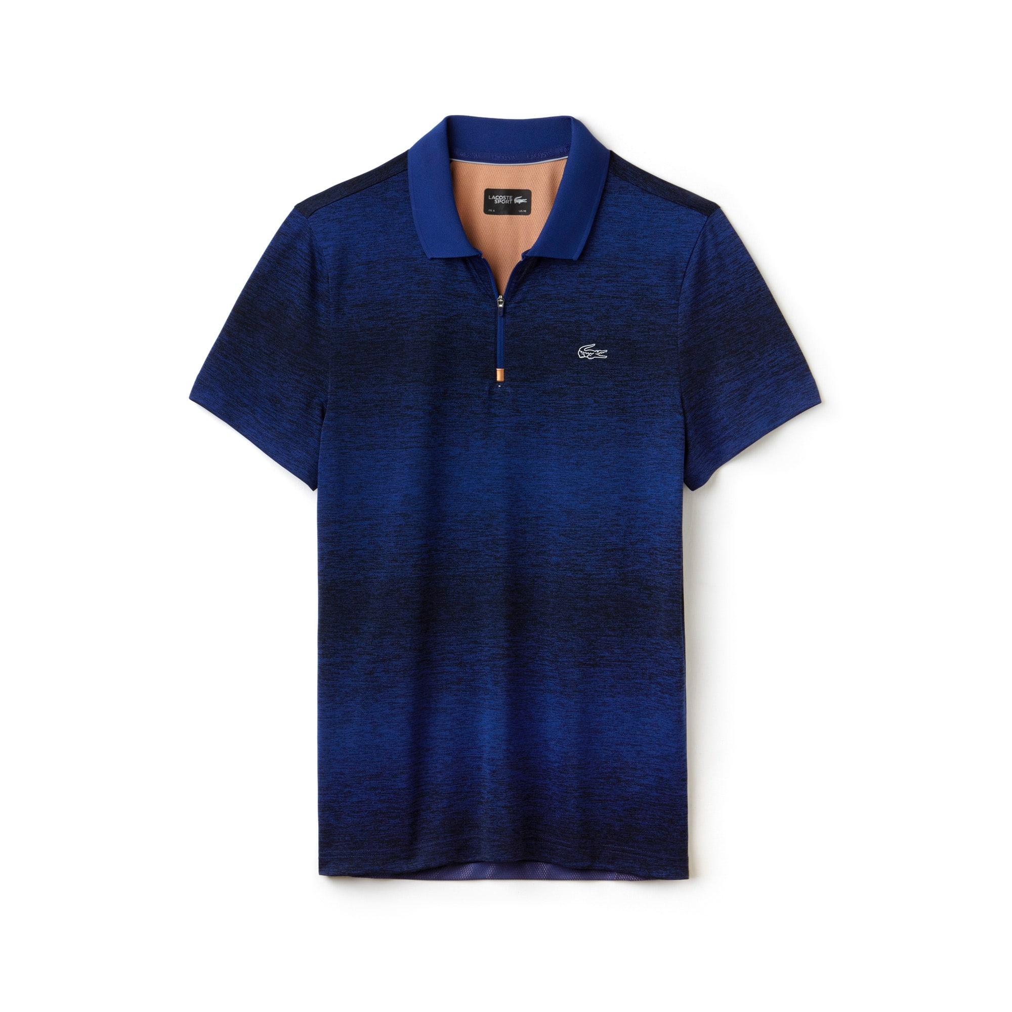 Polo con collo a zip Tennis Lacoste SPORT in jersey tecnico con dorso a contrasto