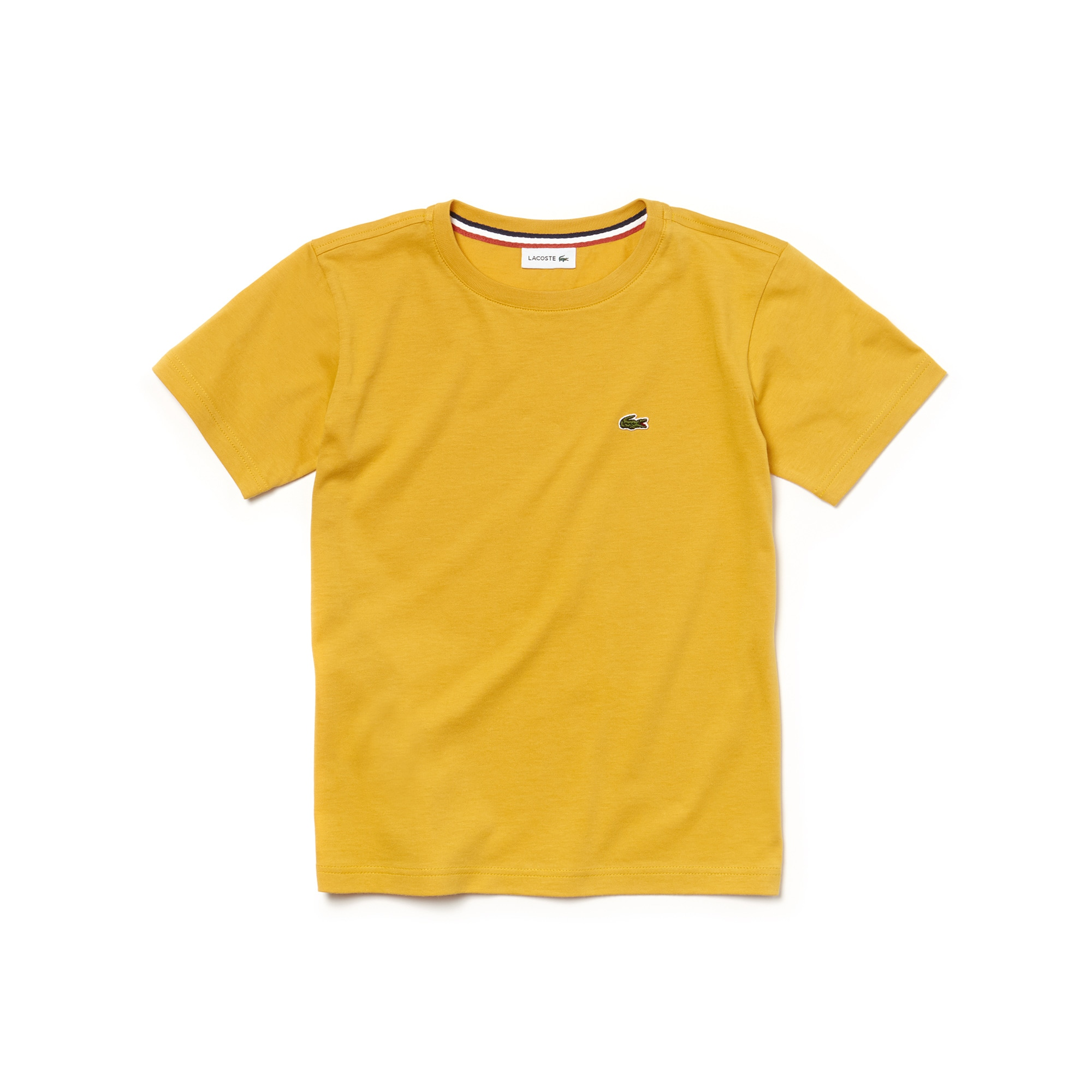 T-shirt a girocollo da bambino in jersey di cotone