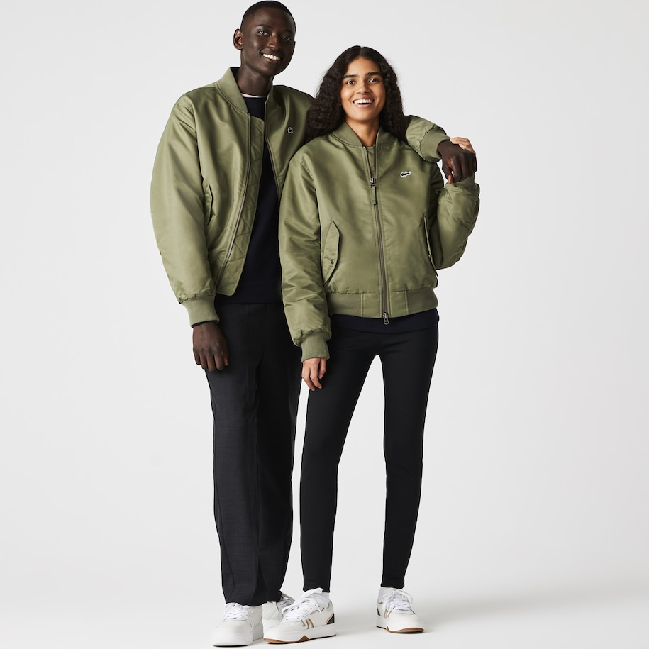 Giacca bomber unisex a contrasto oversize Lacoste LIVE