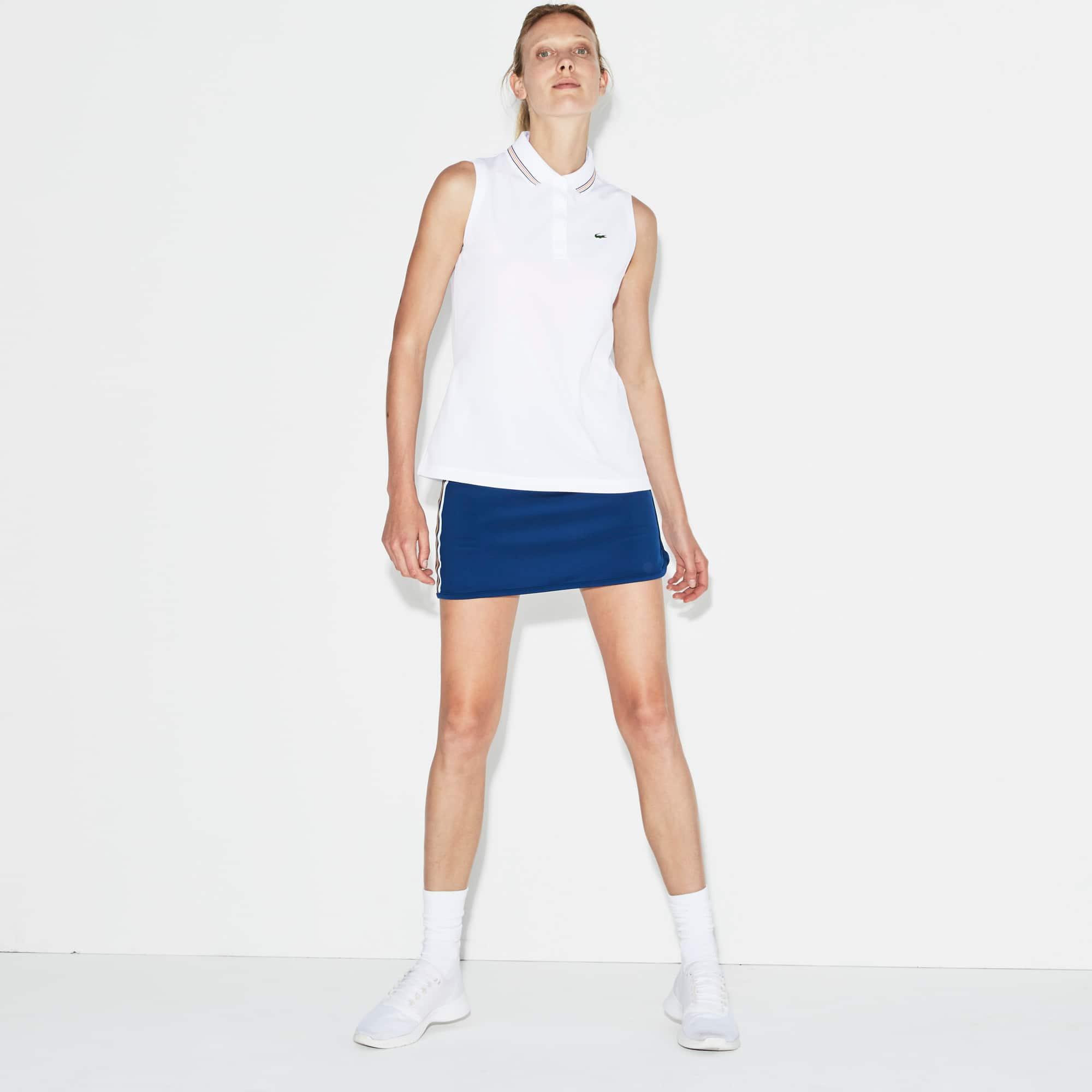 Polo senza maniche Tennis Lacoste SPORT in jersey e piqué tecnico