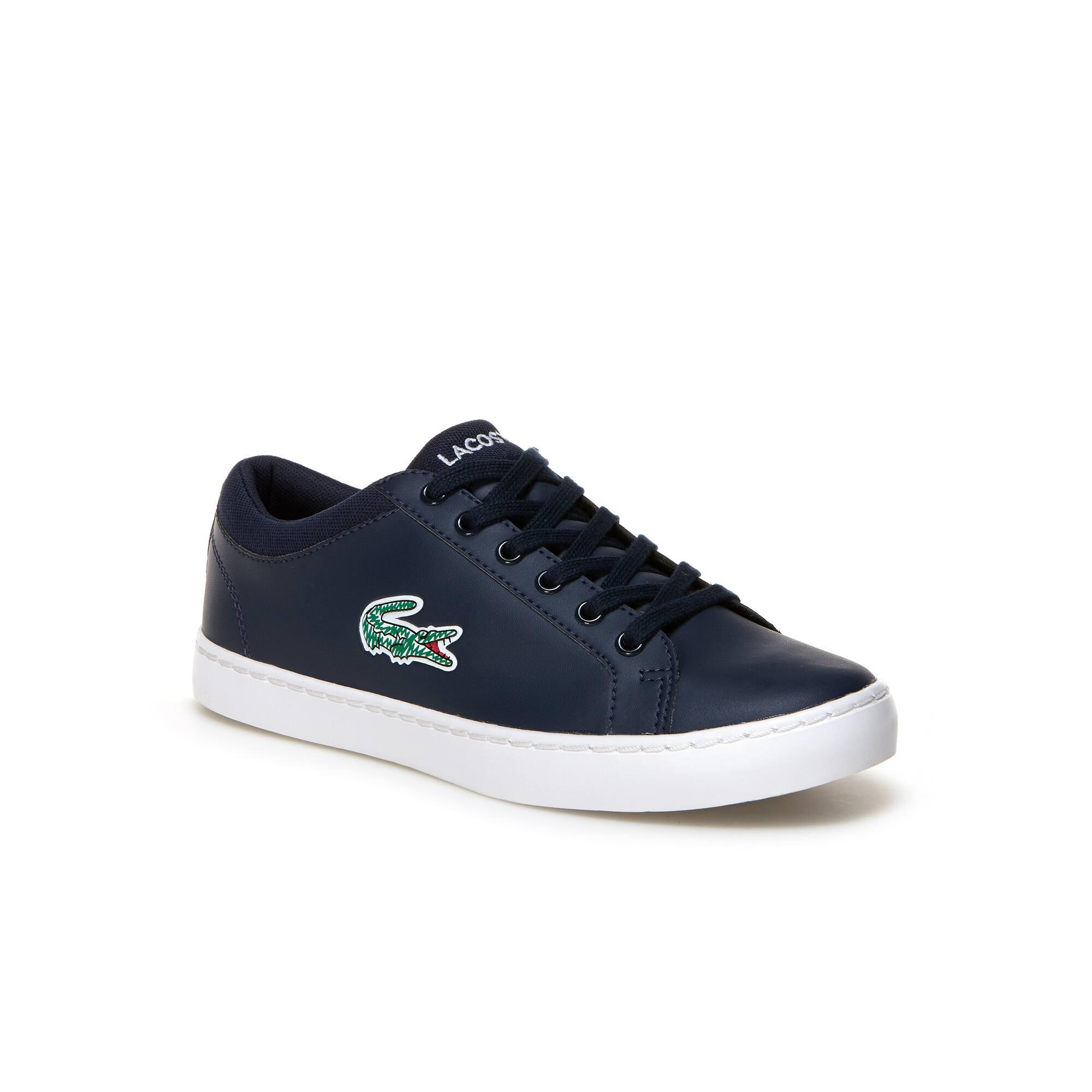 Sneakers numero 35 nere con stringhe per bambini Lacoste Envío Libre Con Mastercard Limitado Sitios Web De Descuento L3O9Uvx6
