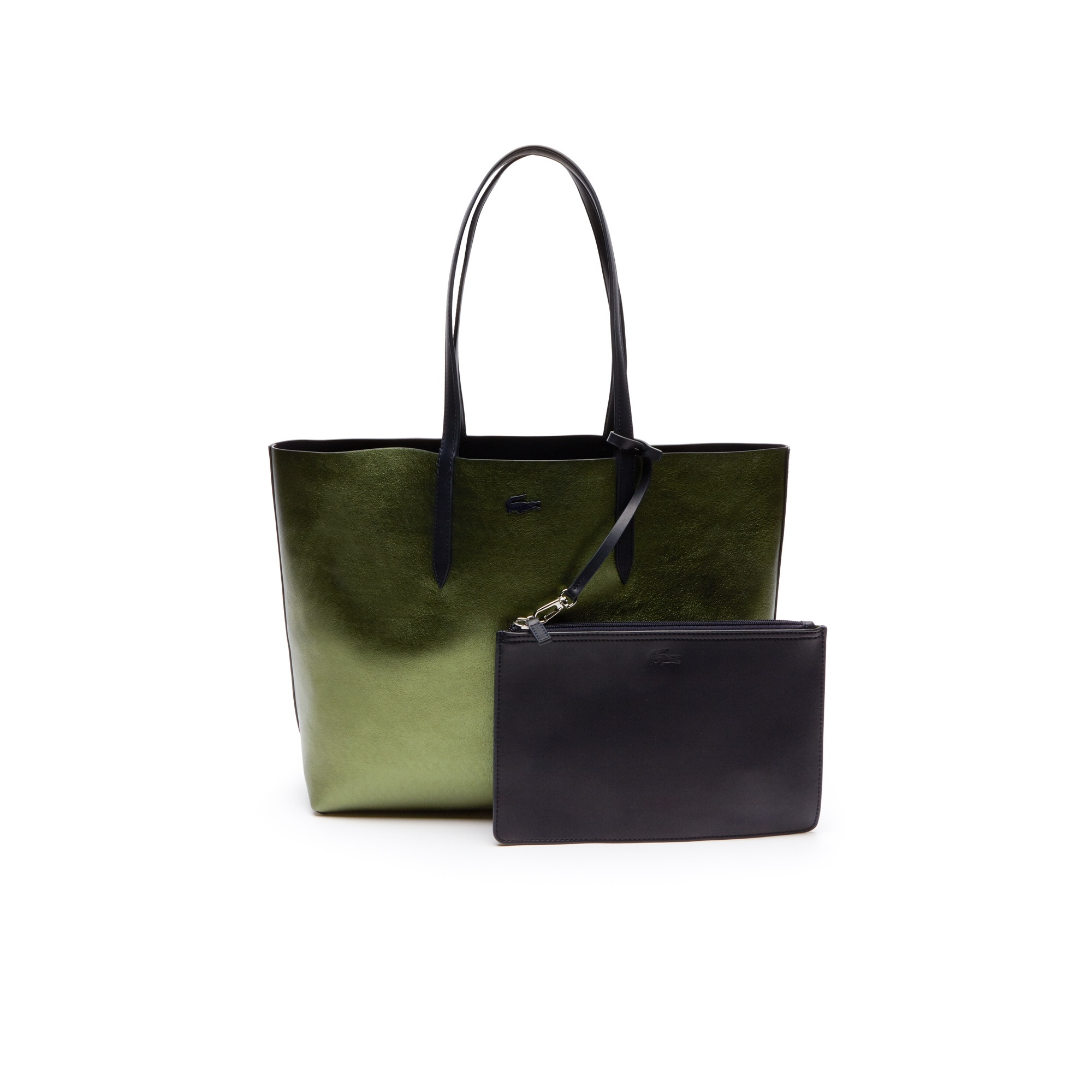 Shopping bag in pelle double face opaca e iridescente Anna da donna