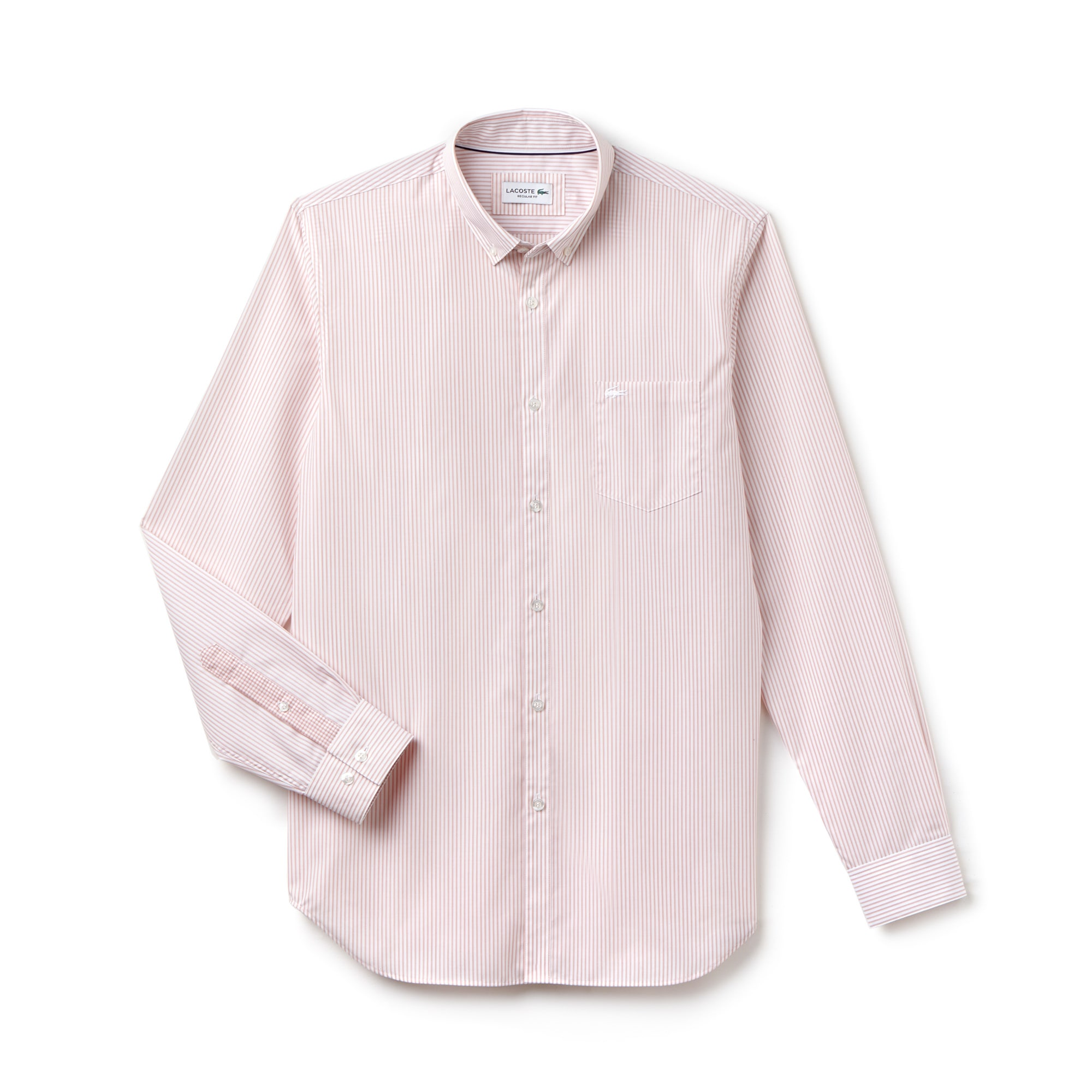 Camicia regular fit in popeline di cotone a righe