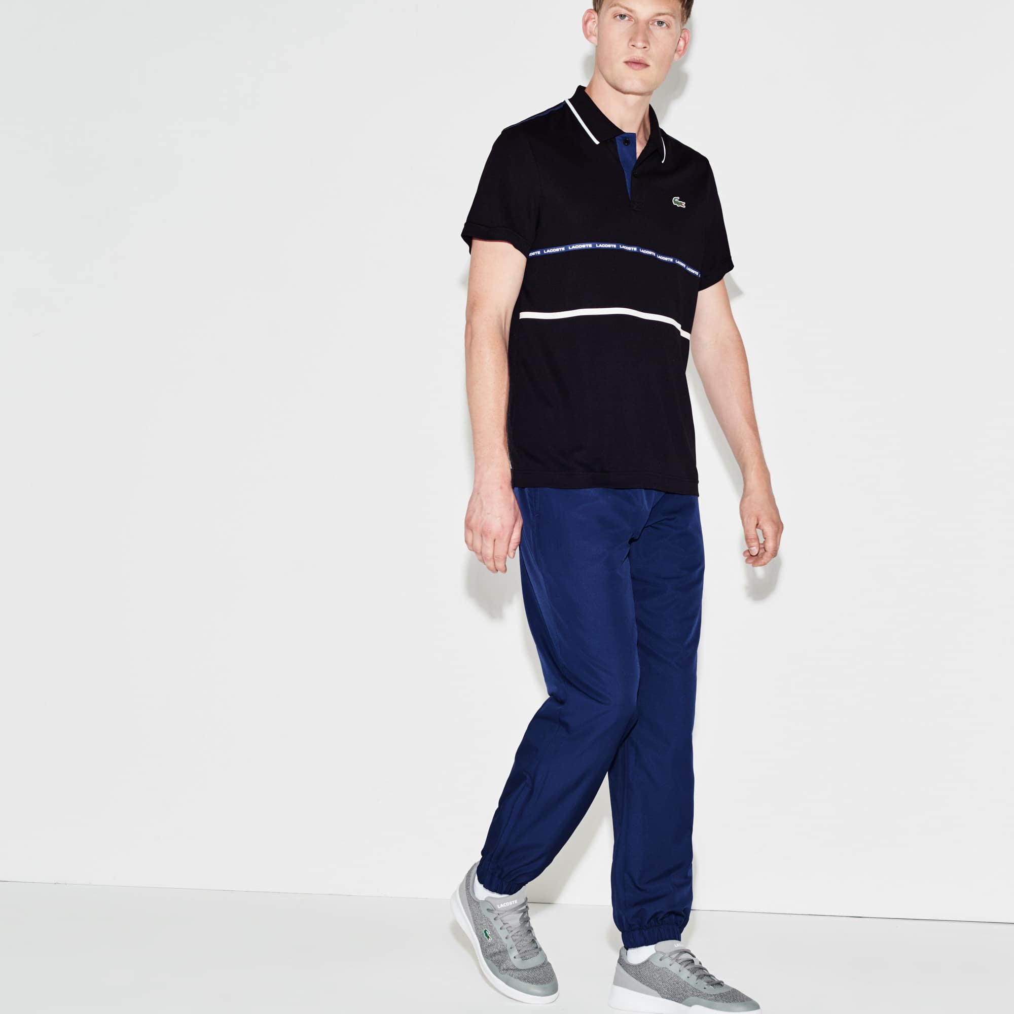 Pantaloni da ginnastica Lacoste SPORT in taffettà tessuto a losanghe in tinta unita