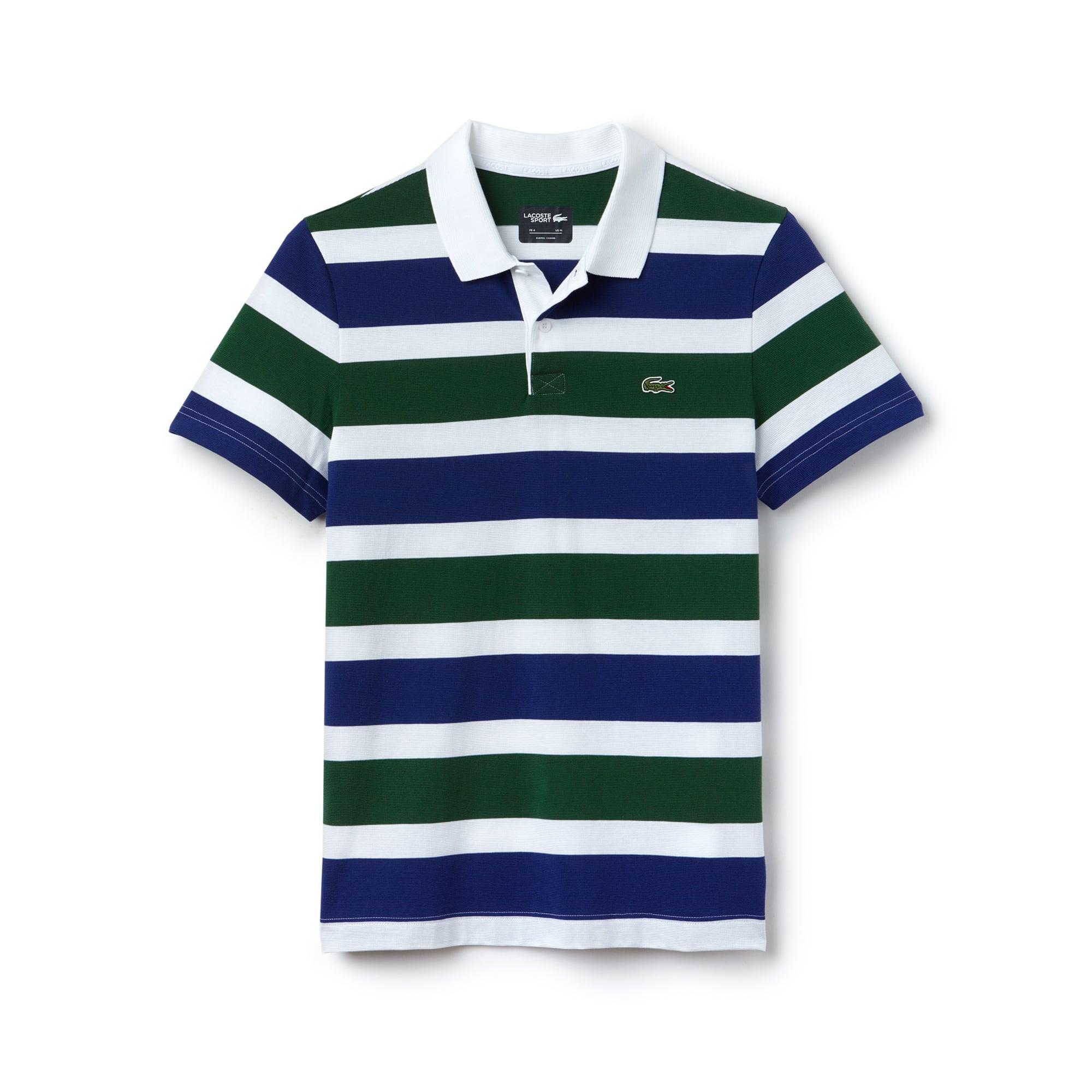 Polo Tennis Lacoste SPORT in maglia ultra leggera a righe