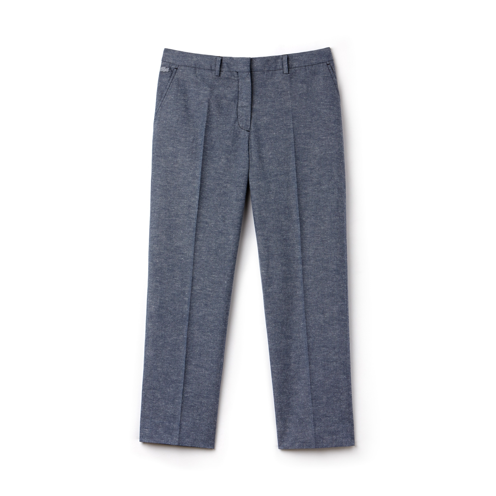 Pantaloni con pince Lacoste LIVE in chambray