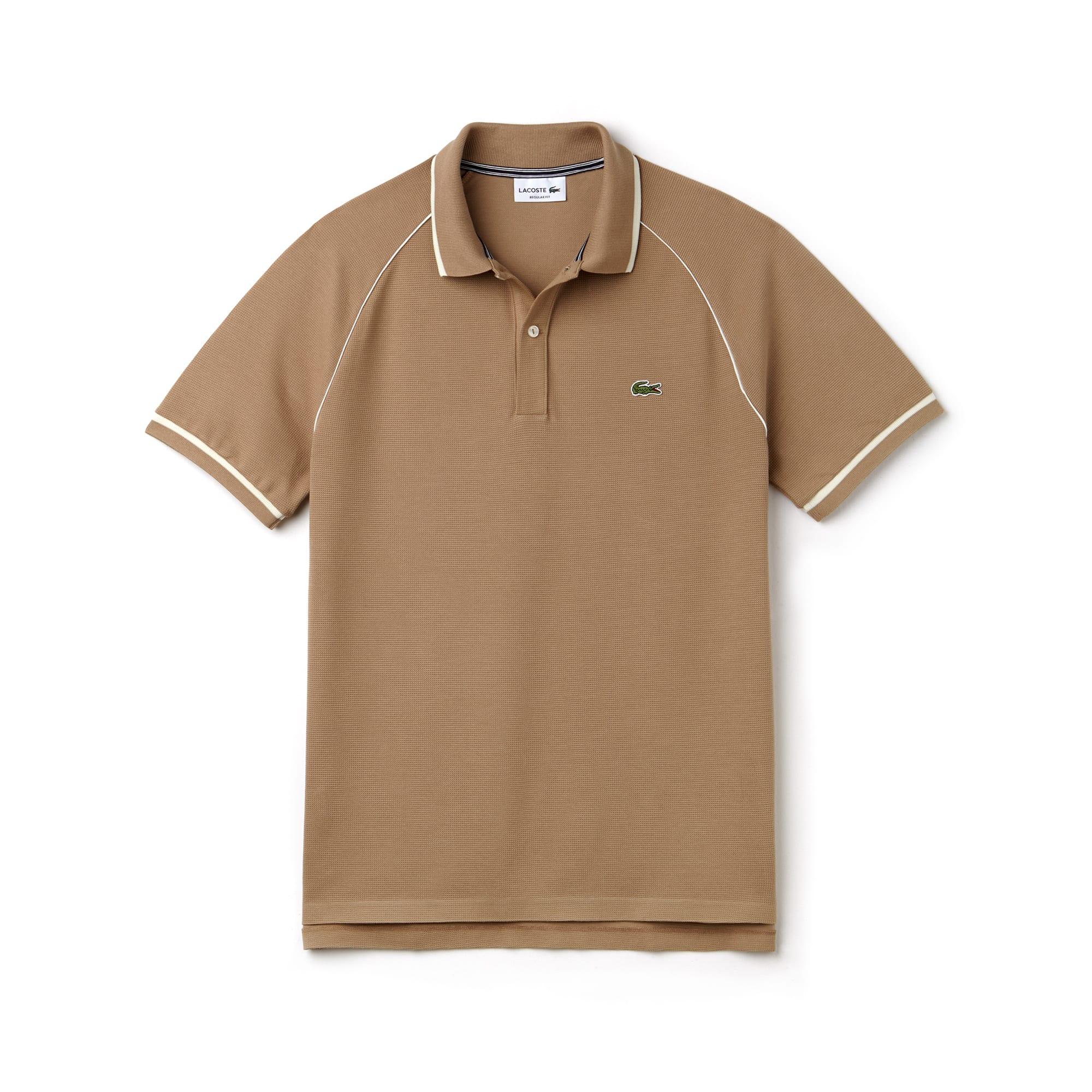 Polo classic fit Lacoste in maglia quadra con bordino