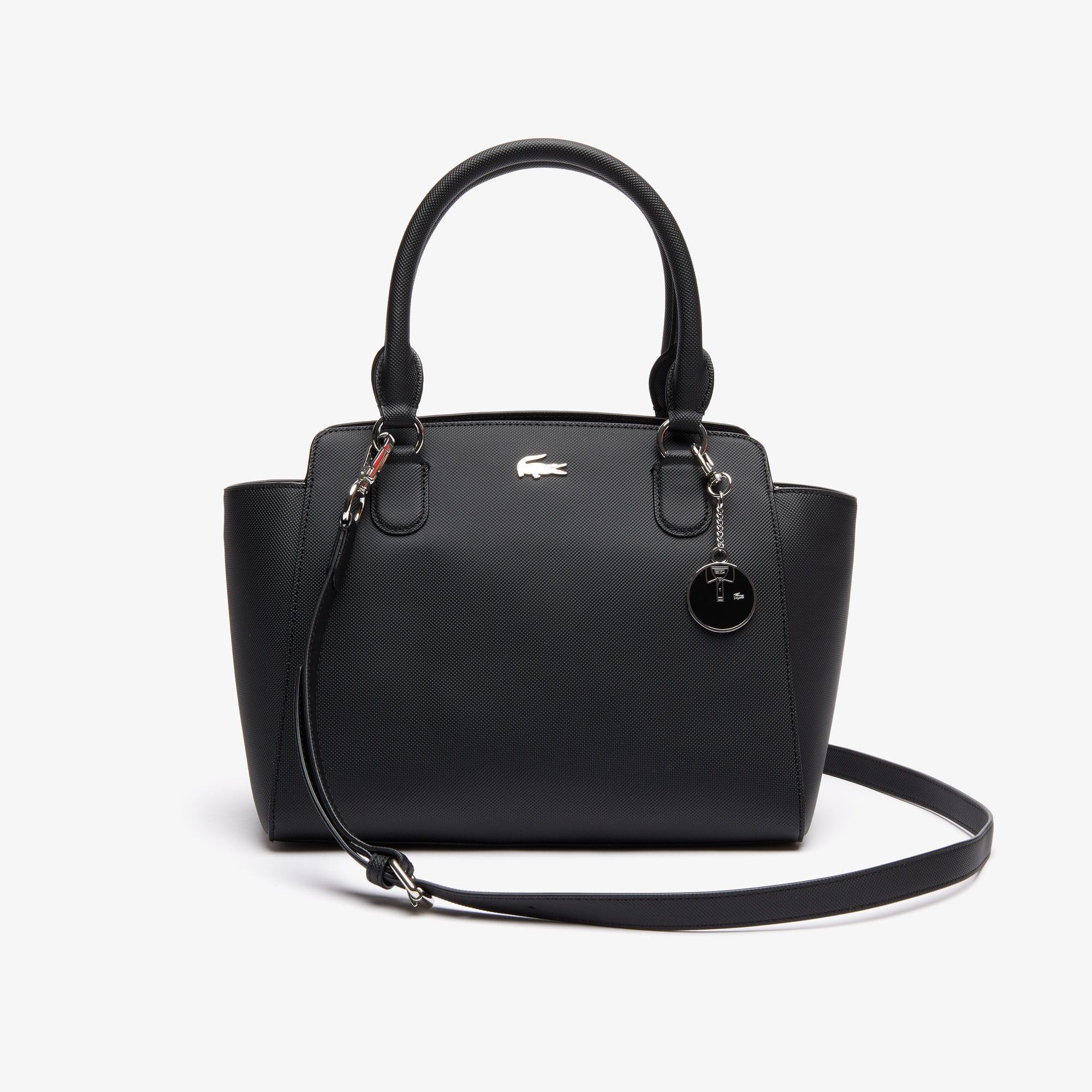 Shopping bag a soffietto in tela piqué spalmata Daily Classic da donna