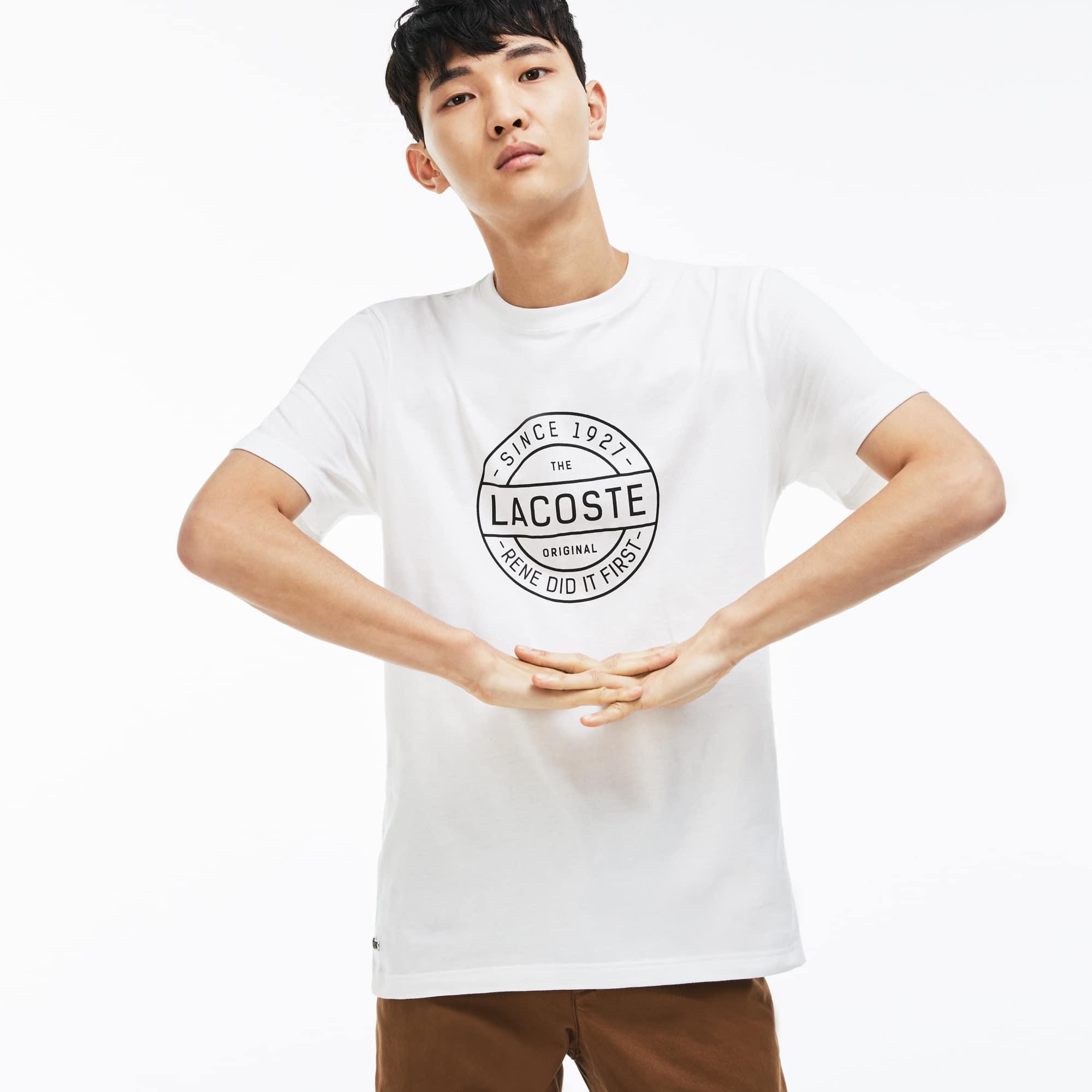 T-shirt a girocollo Made in France in jersey di cotone con scritta