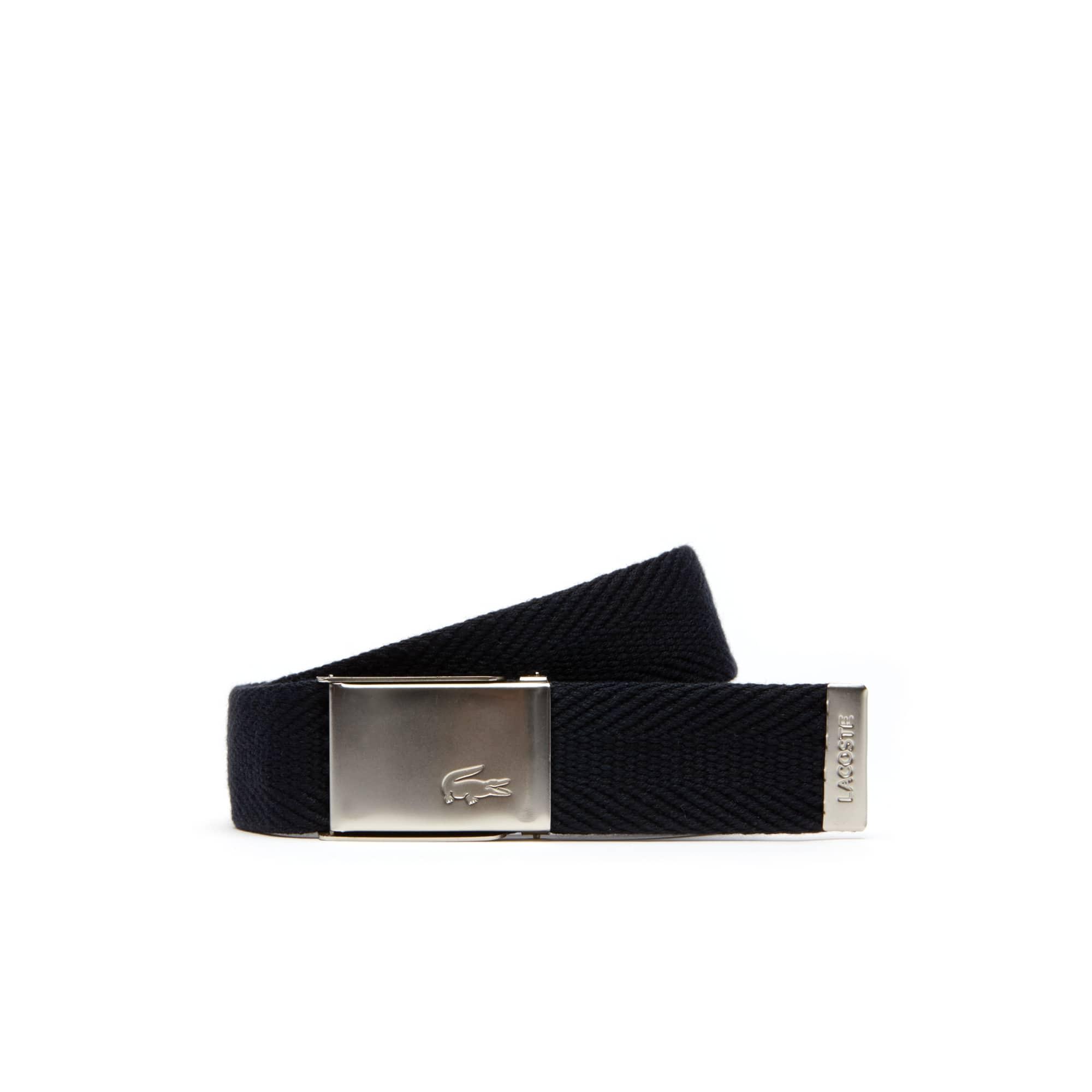 Cofanetto regalo cintura in tessuto con fibbia dotata di incisione Edizione Made in France