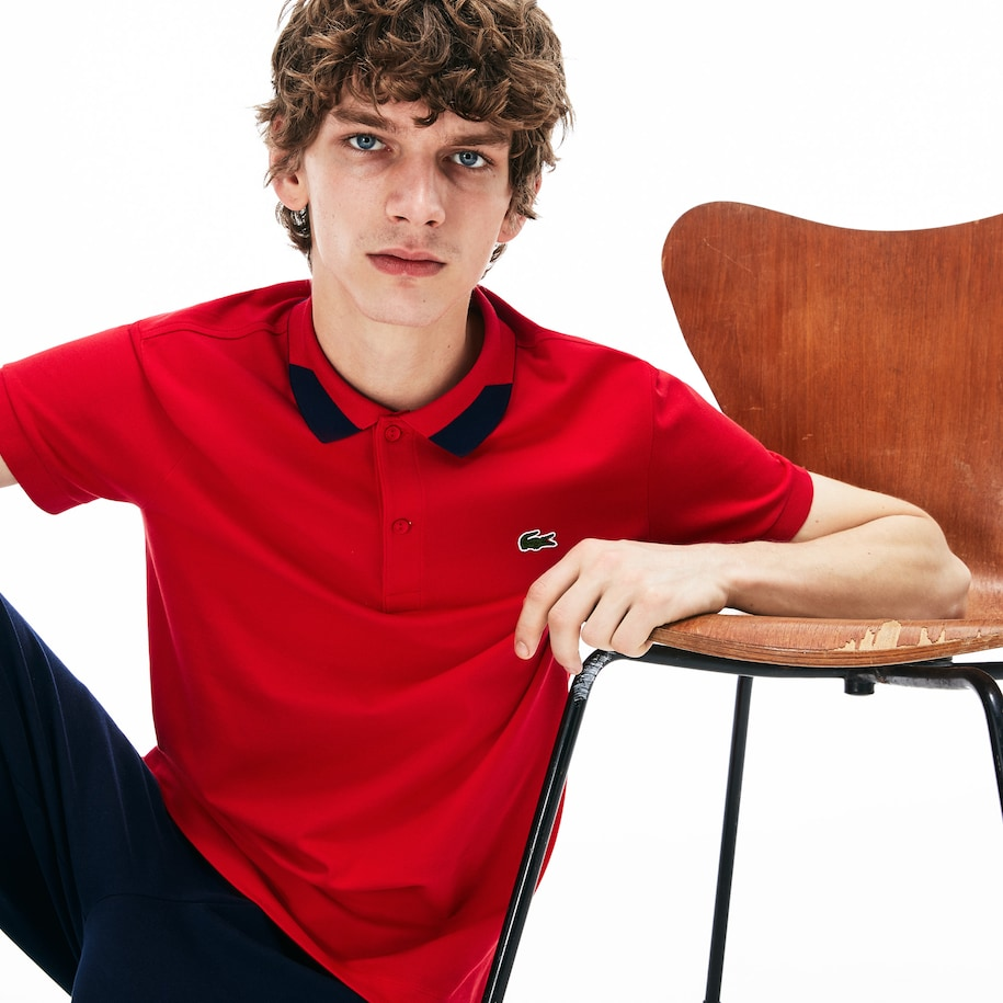 Polo regular fit Lacoste in piqué Pima stretch con dettagli a contrasto