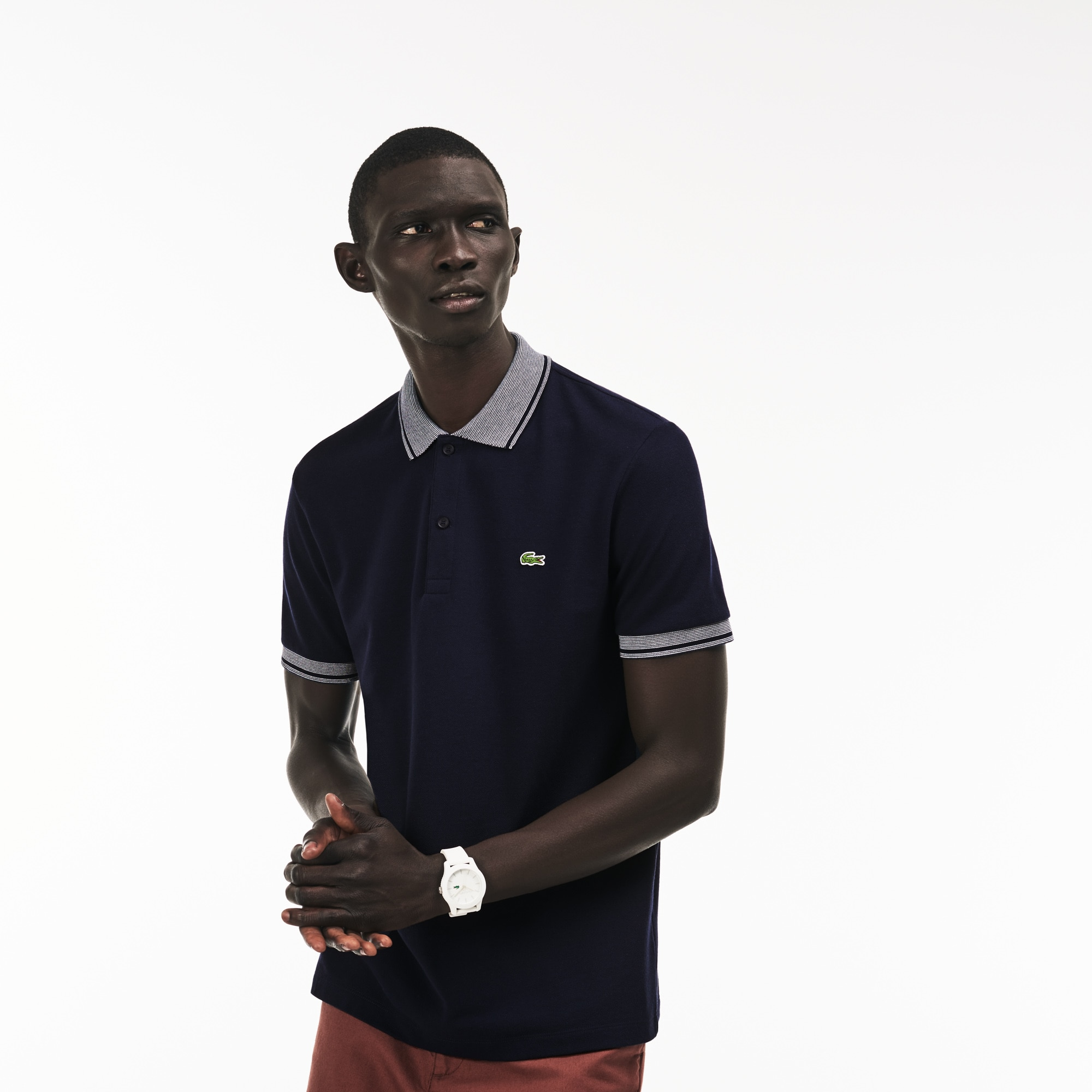 Polo regular fit Lacoste in petit piqué di cotone con bordino